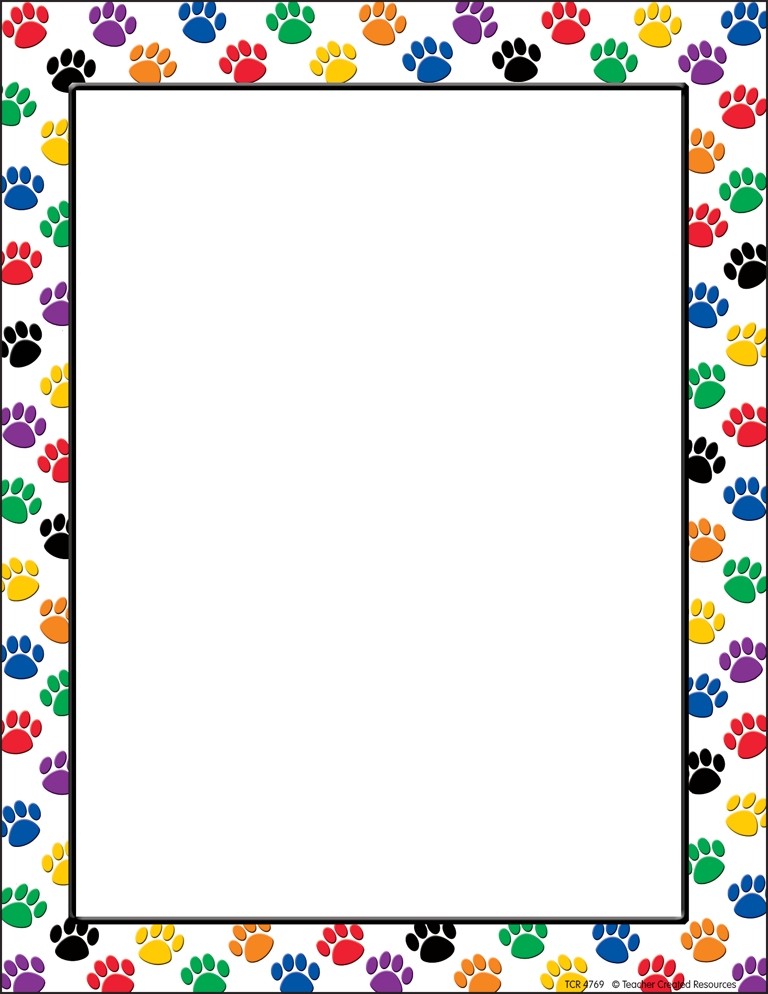 It is a graphic of Crazy Paw Patrol Borders