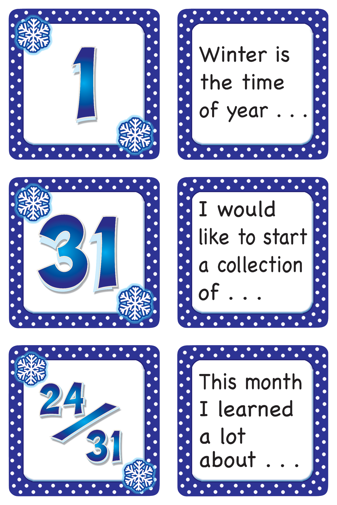 January Polka Dots Calendar DaysStory Starters TCR5075 – Teacher Created Resources Worksheets