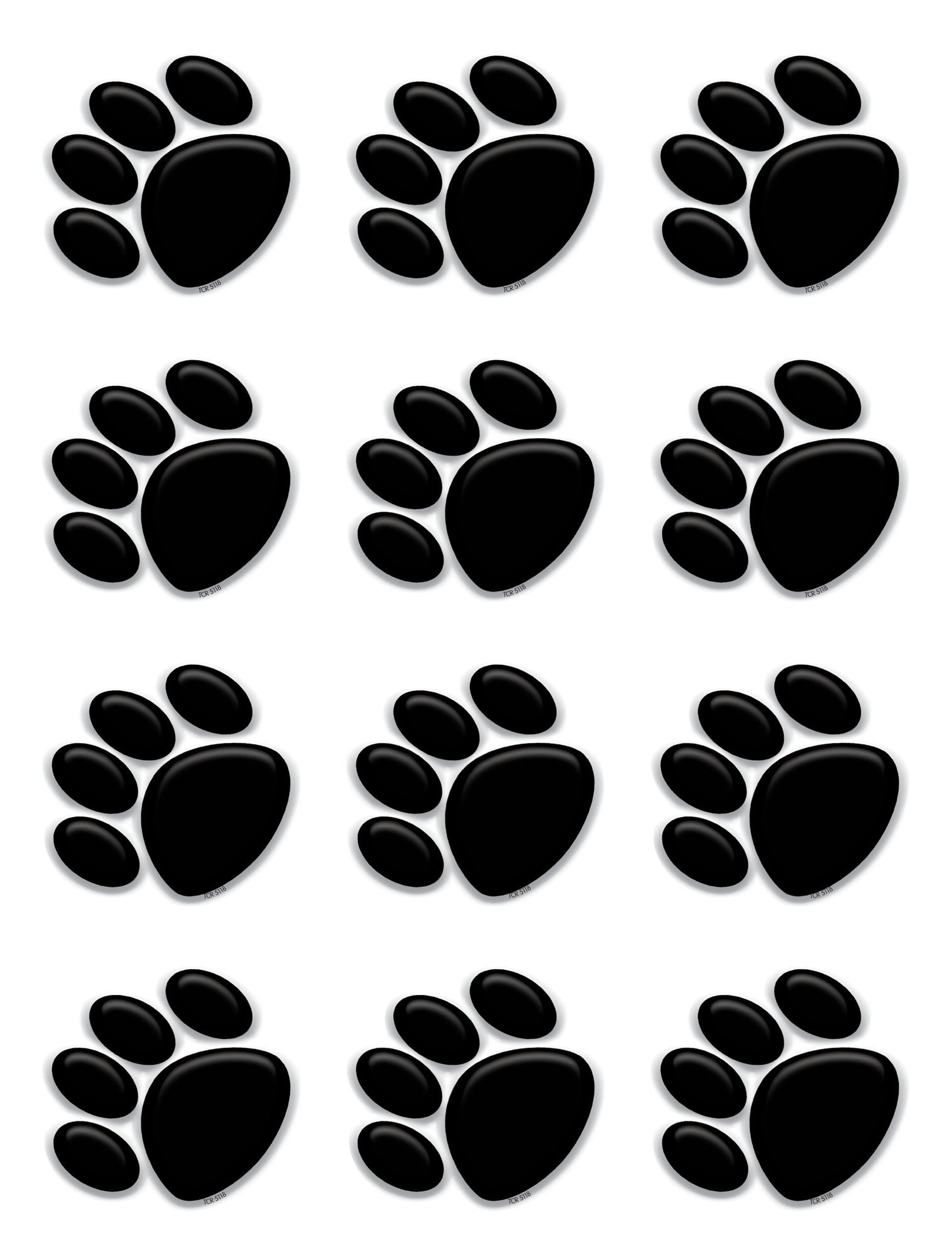This is a picture of Unusual Paw Print Printable