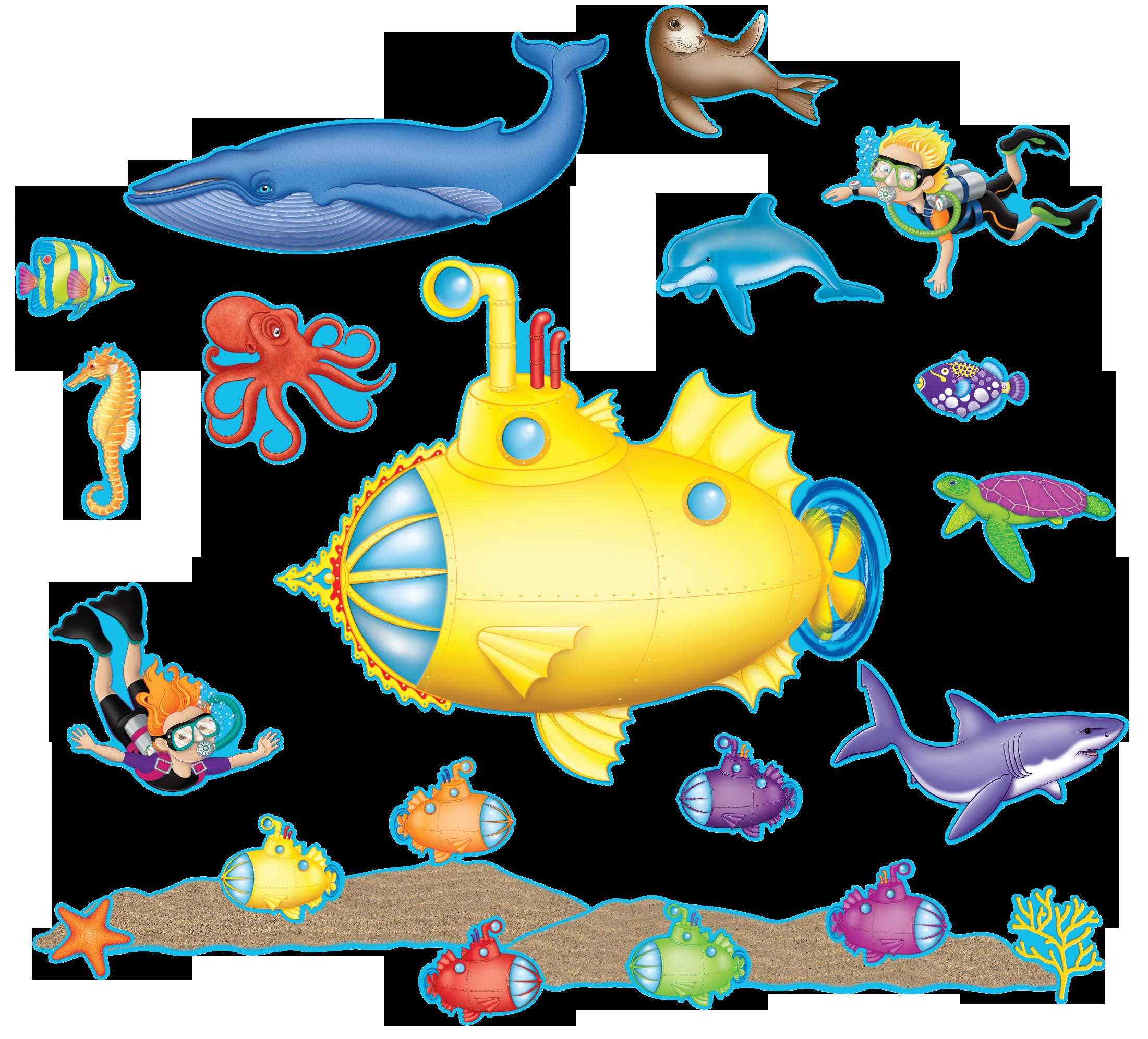 Under The Sea Bulletin Board Tcr5151 Teacher Created