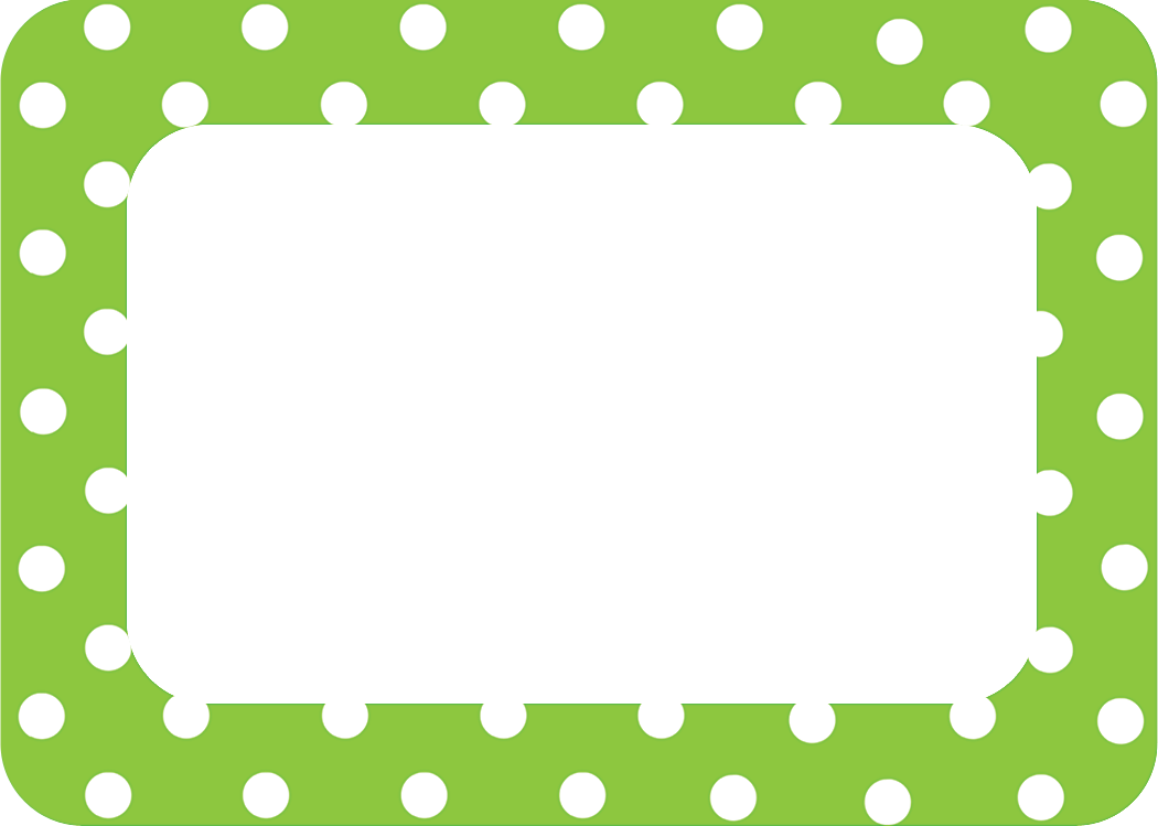 Lime Polka Dots 2 Name Tags Labels Tcr5174 Teacher