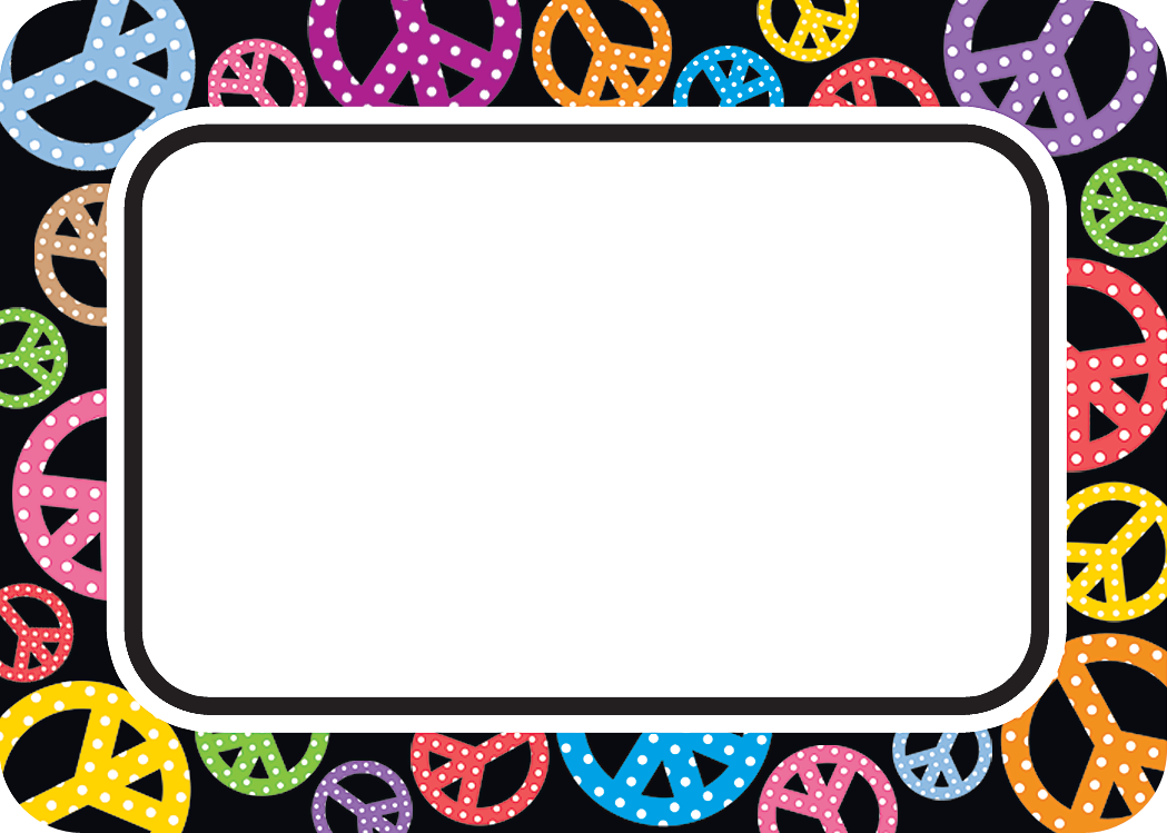 peace signs name tags  labels