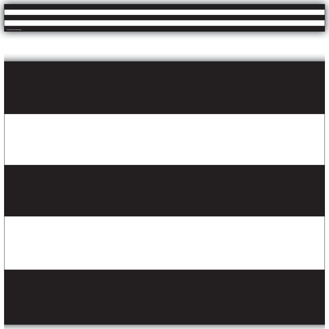 black white stripes straight border trim tcr5223 teacher