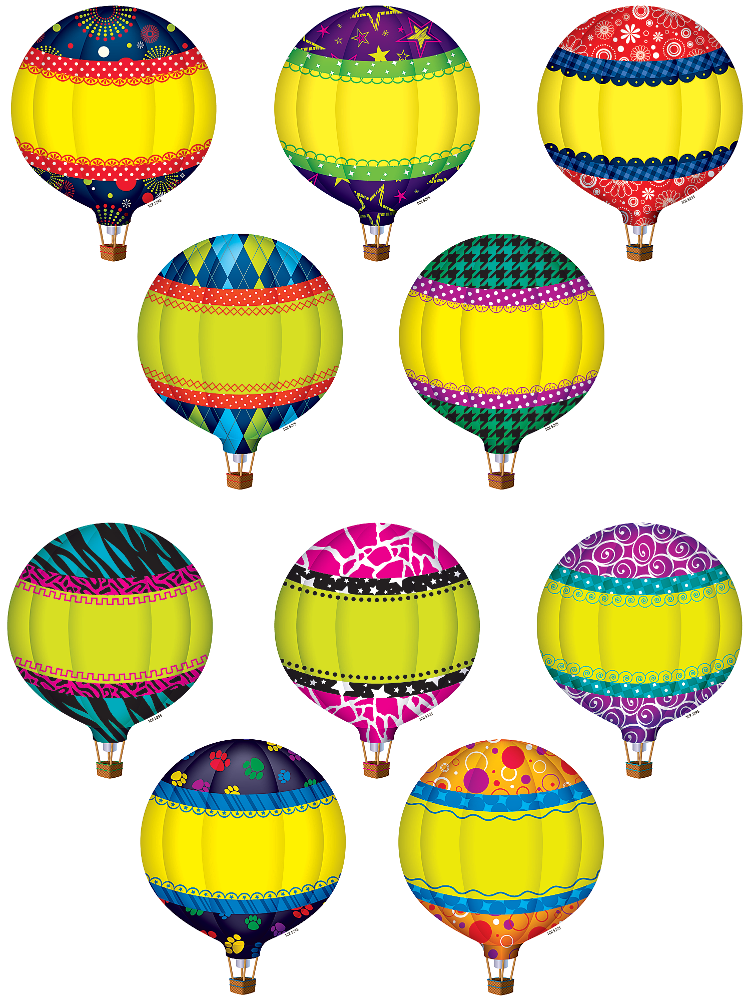 Hot Air Balloons Accents Tcr5295 Teacher Created Resources