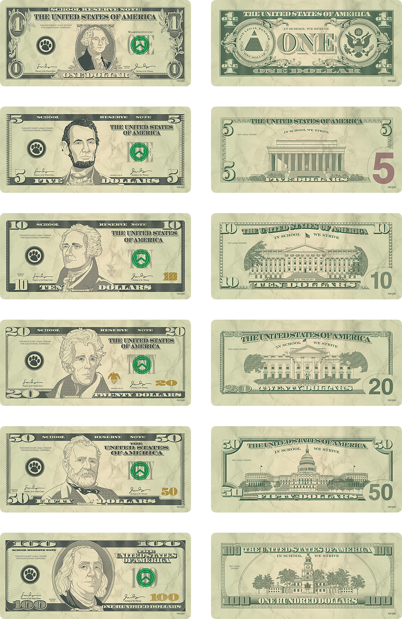 money accents  bills