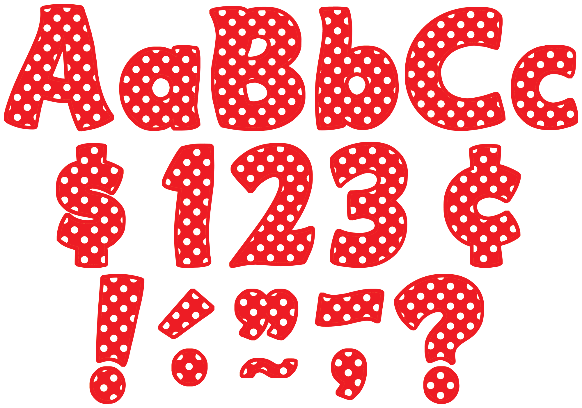 Red Polka Dots Funtastic 4 U0026quot  Letters Combo Pack