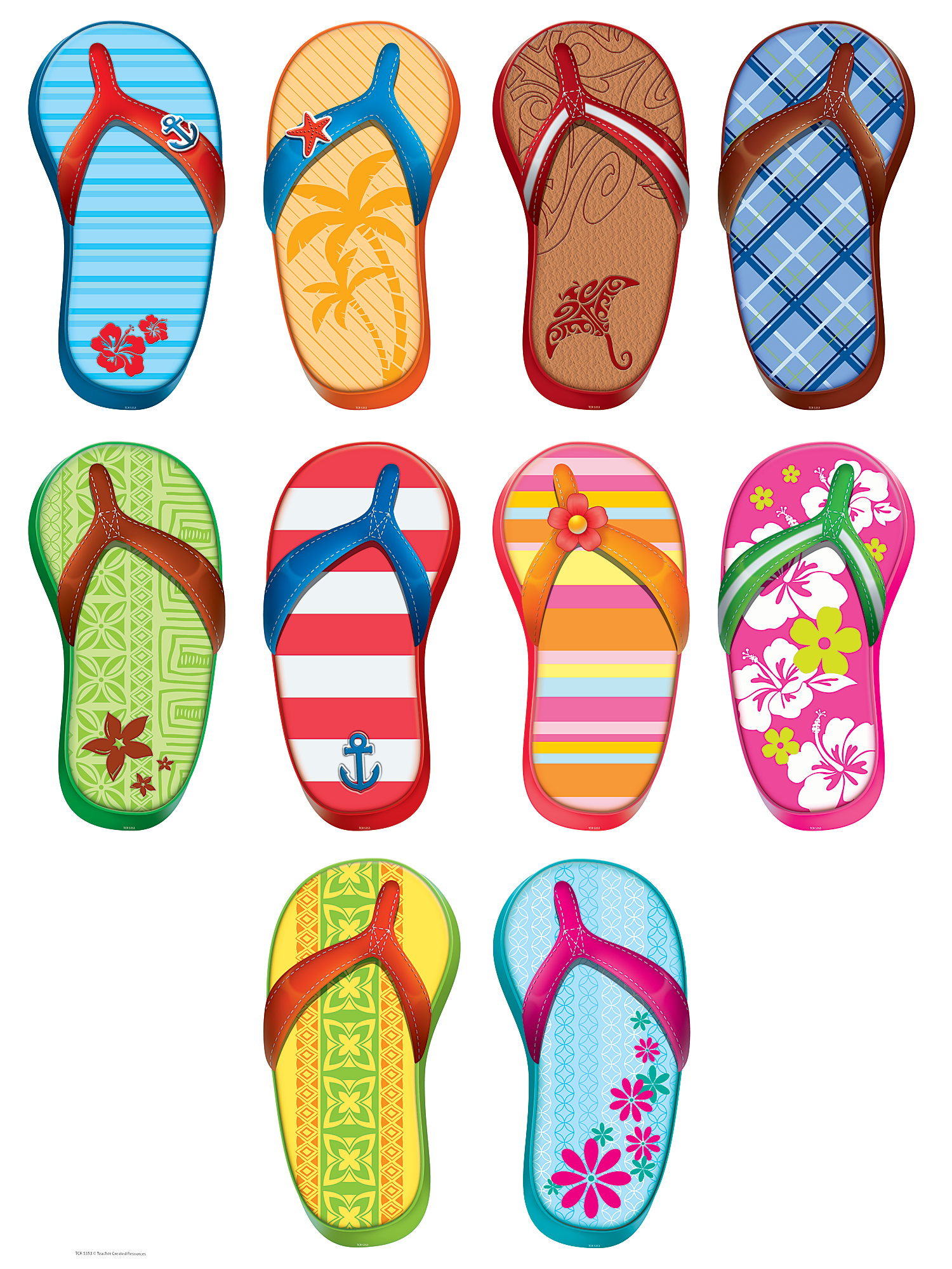 Flip Flops Accents Tcr5353 Teacher Created Resources