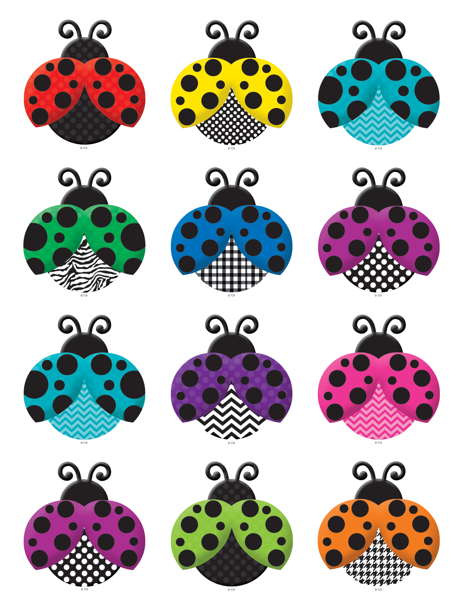 colorful ladybugs mini accents tcr5410 teacher created resources