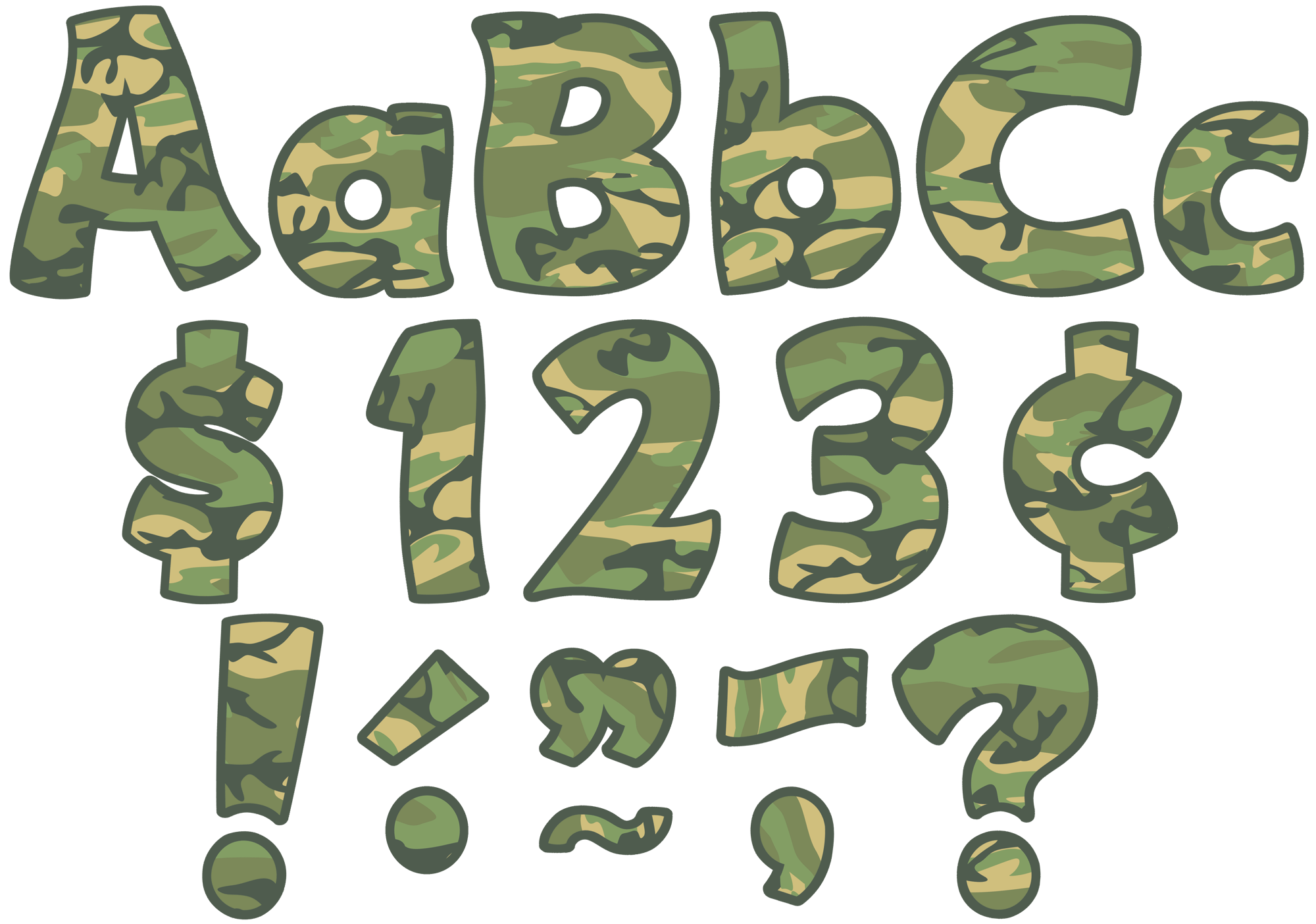 Camouflage Funtastic 4 Quot Letters Combo Pack Tcr5427