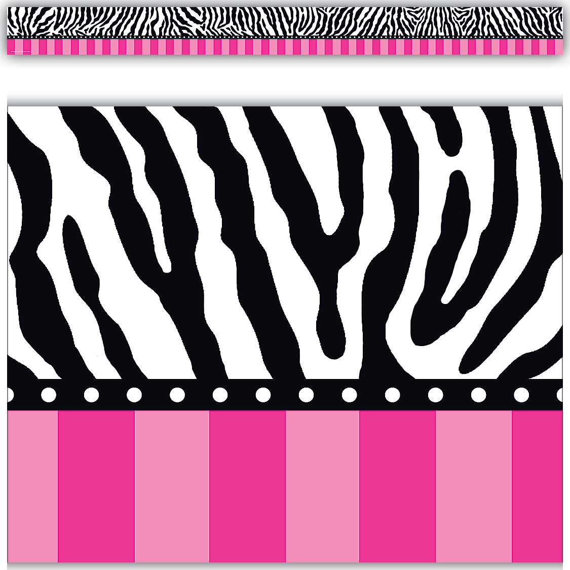 Zebra and hot pink stripes straight border trim tcr5505 zebra and hot pink stripes straight border trim tcr5505 teacher created resources voltagebd