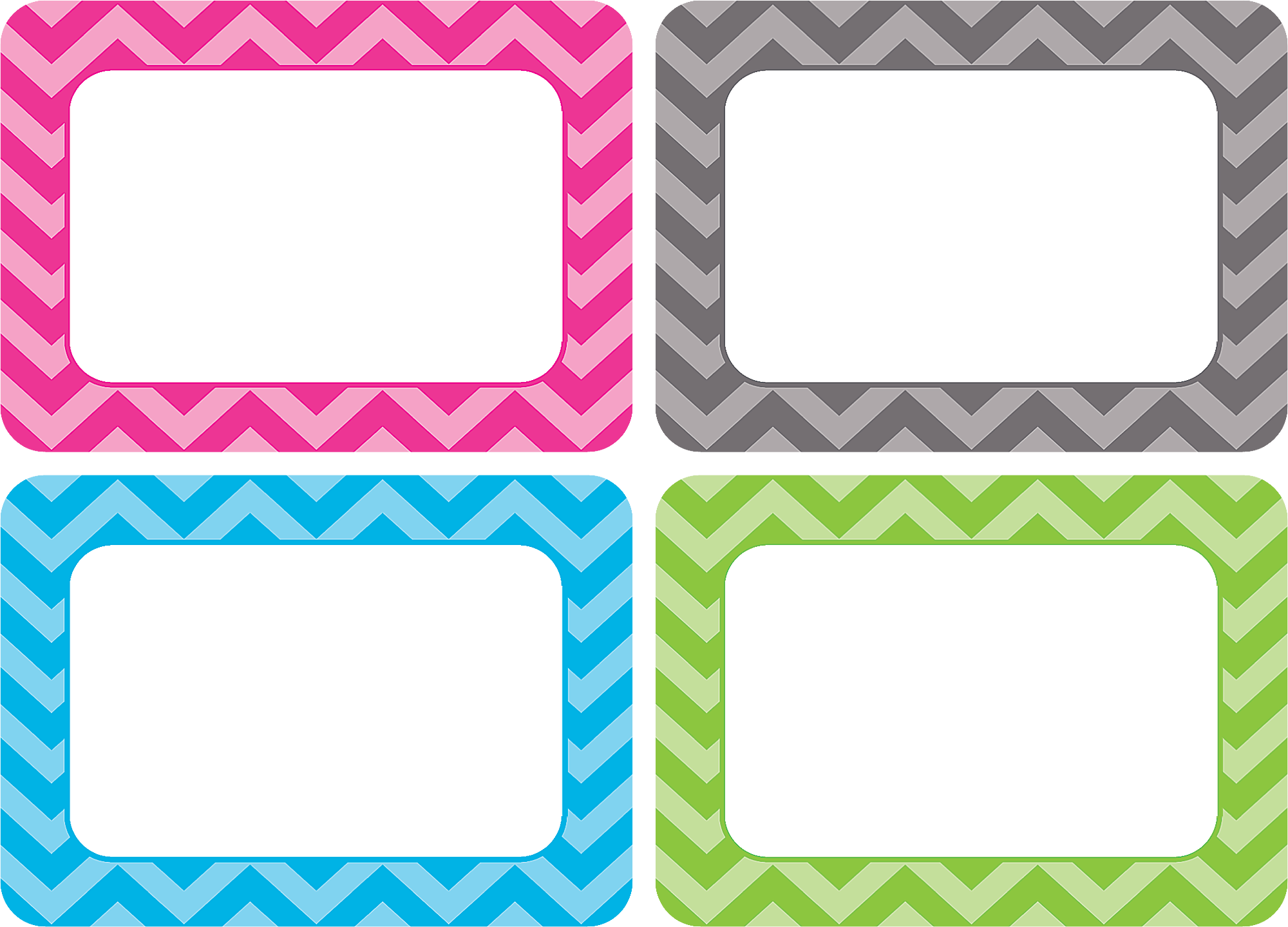 Chevron Name Tags Labels Multi Pack Tcr5526 Teacher
