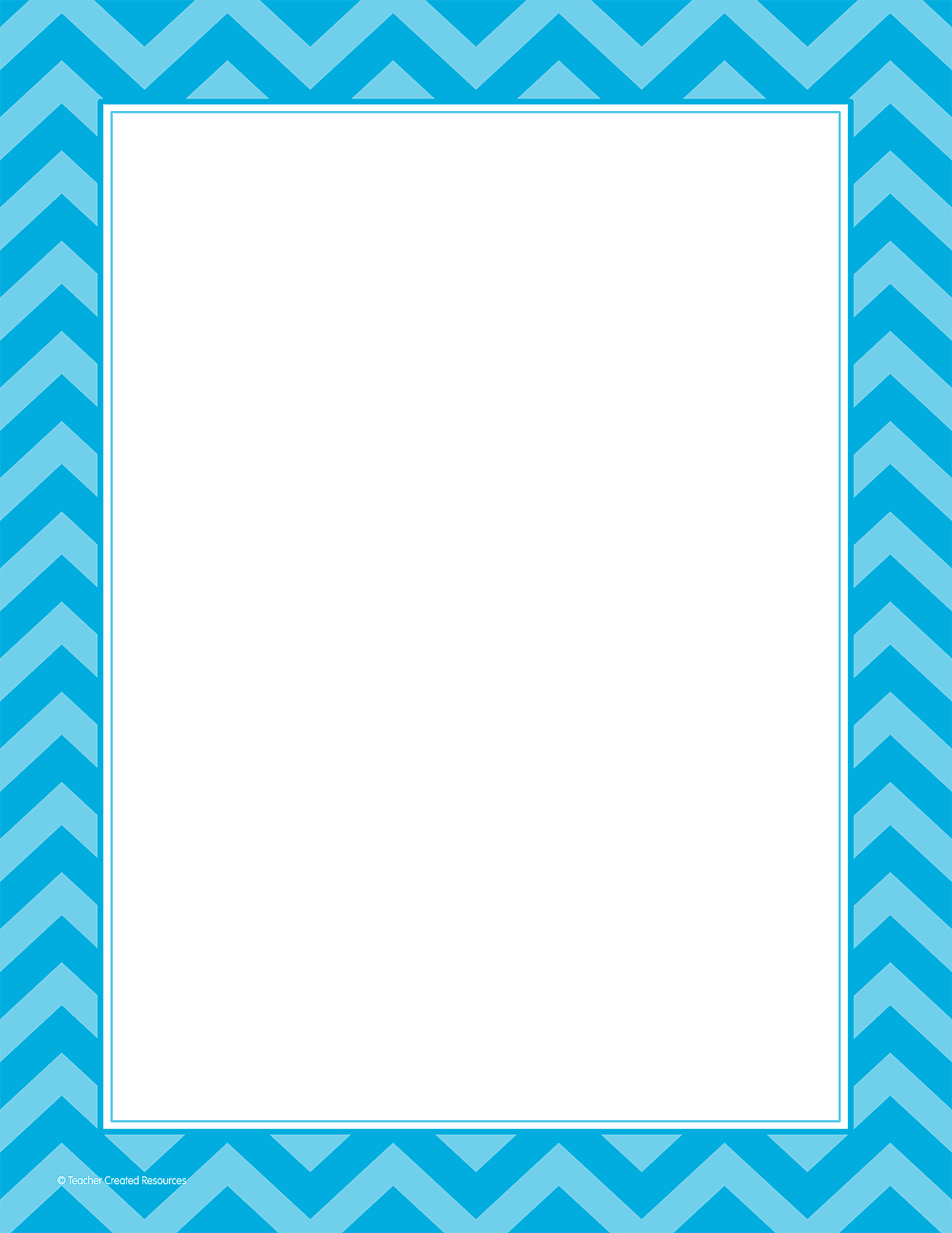 Aqua Chevron Computer Paper TCR5529 Teacher Created Resources