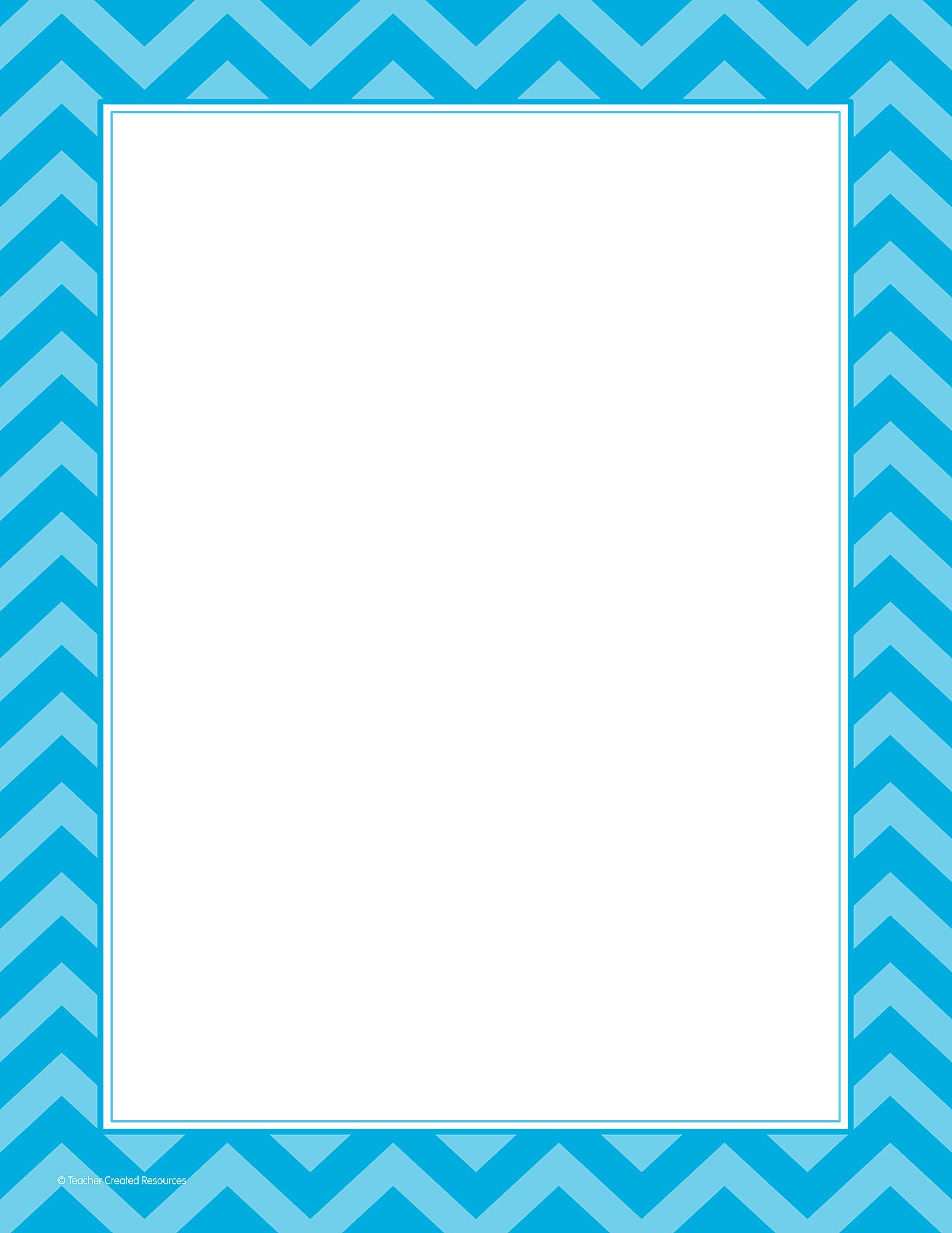 aqua chevron computer paper