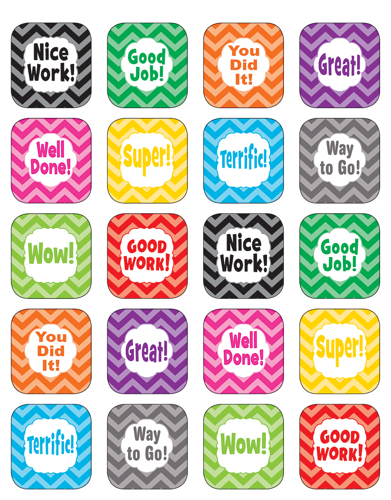 Good job stickers for teachers custom sticker