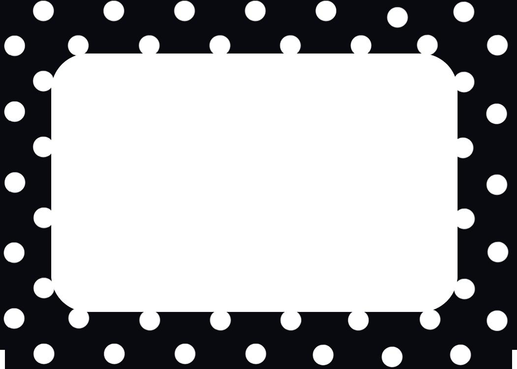 Black Polka Dots 2 Name Tags Labels Tcr5538 Teacher