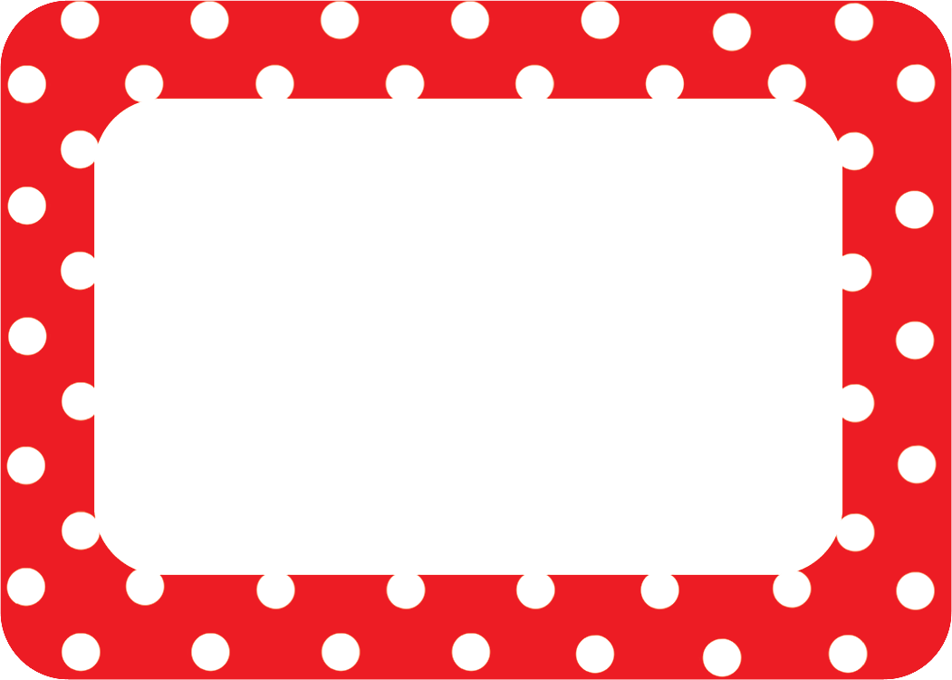 red polka dots 2 name tags  labels