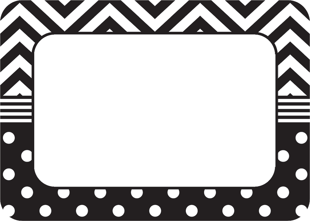 Black & White Chevrons and Dots Name Tags/Labels - TCR5548 ...