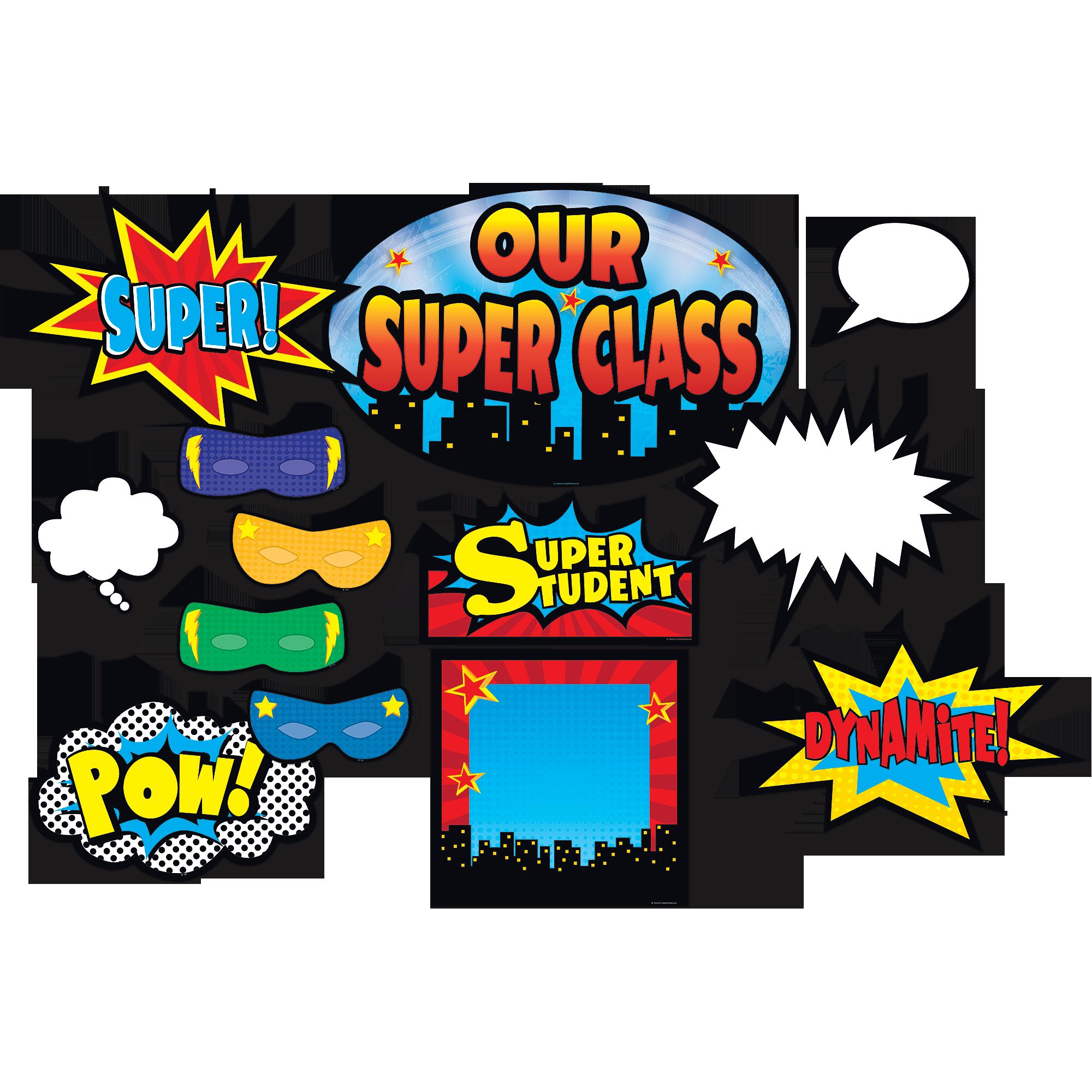 Superhero Bulletin Board Display Set Tcr5568 Teacher