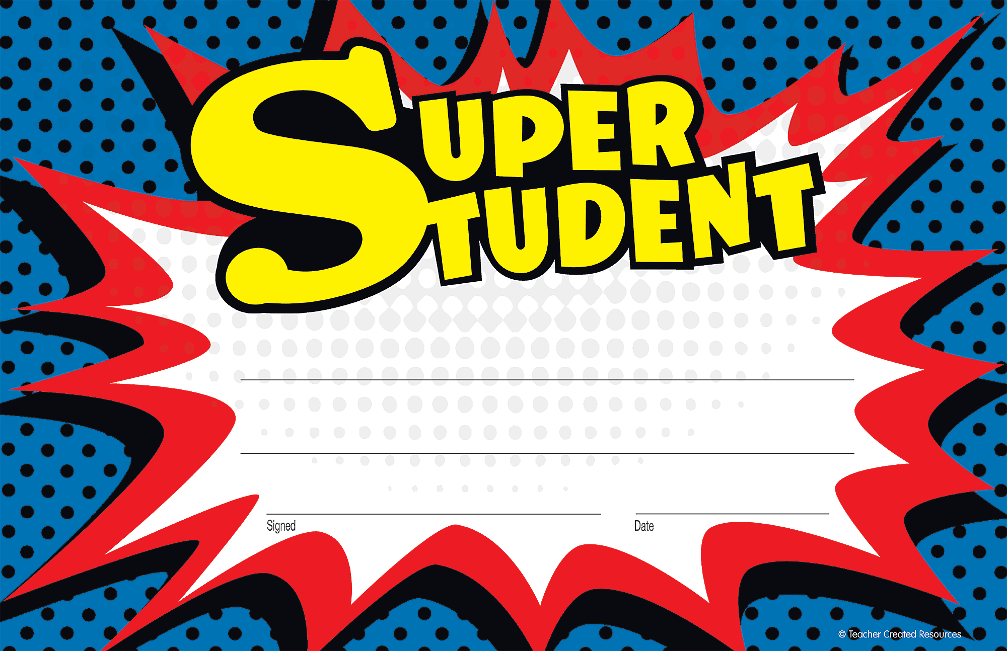 Superhero Super Student Awards Tcr5569 Teacher Created Resources