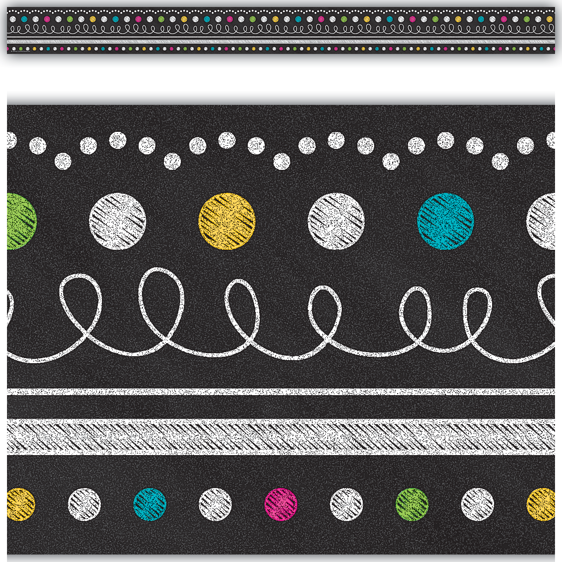 Chalkboard Brights Straight Border Trim Tcr5619 Teacher Created Resources