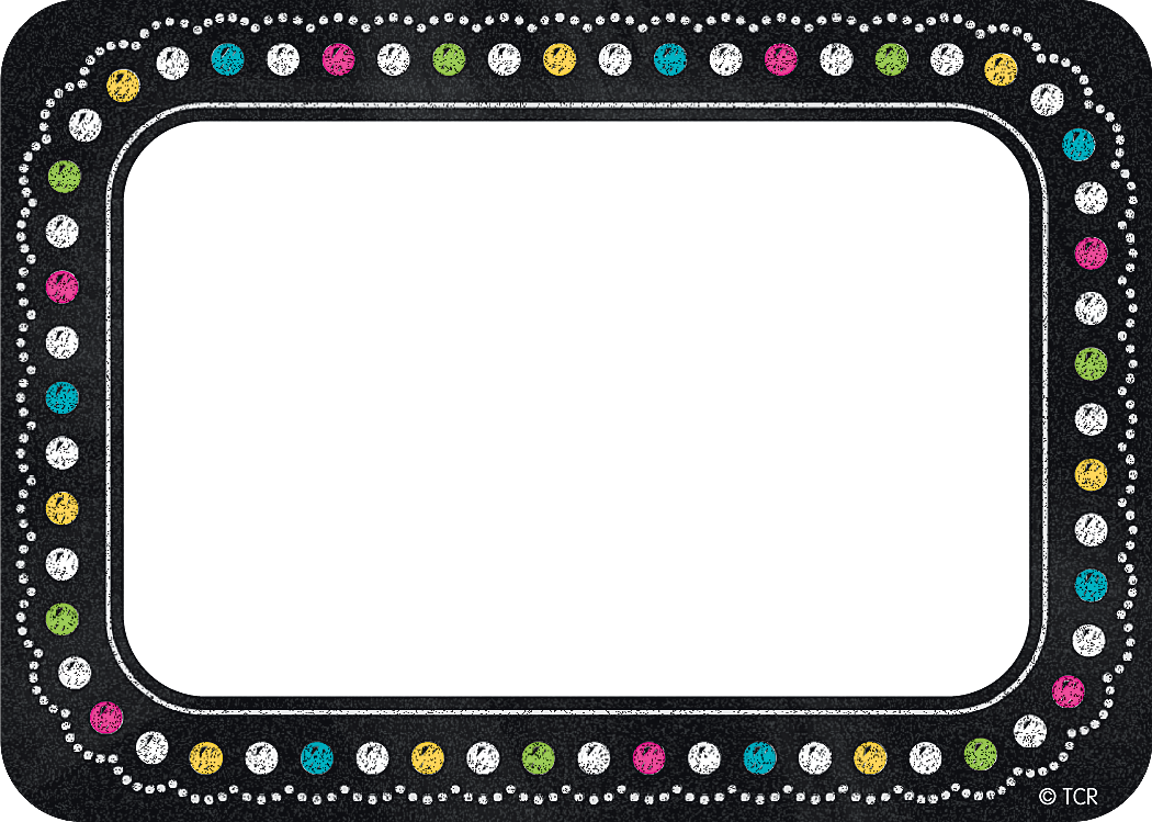 chalkboard brights name tags  labels