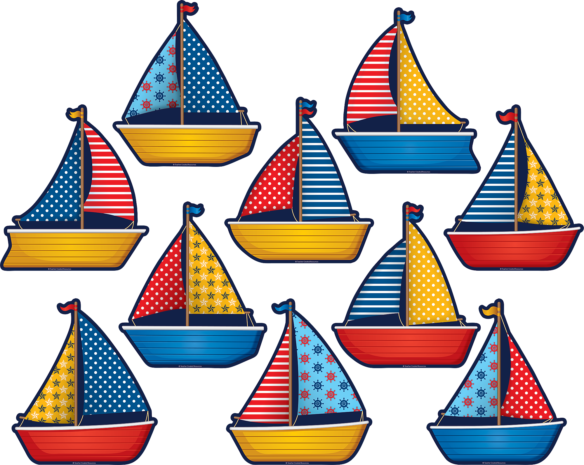 Sailboats Accents Tcr5656 Teacher Created Resources