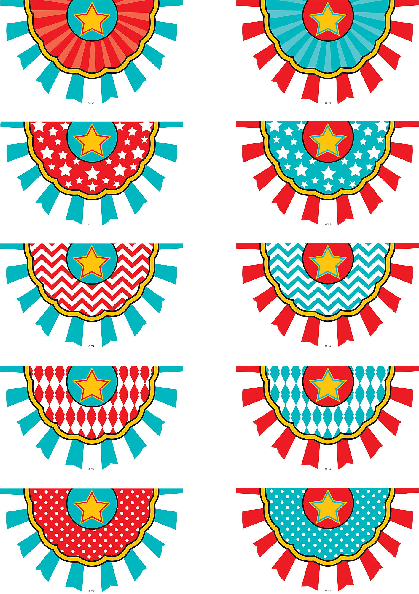Carnival Bunting Accents Tcr5807 Teacher Created Resources