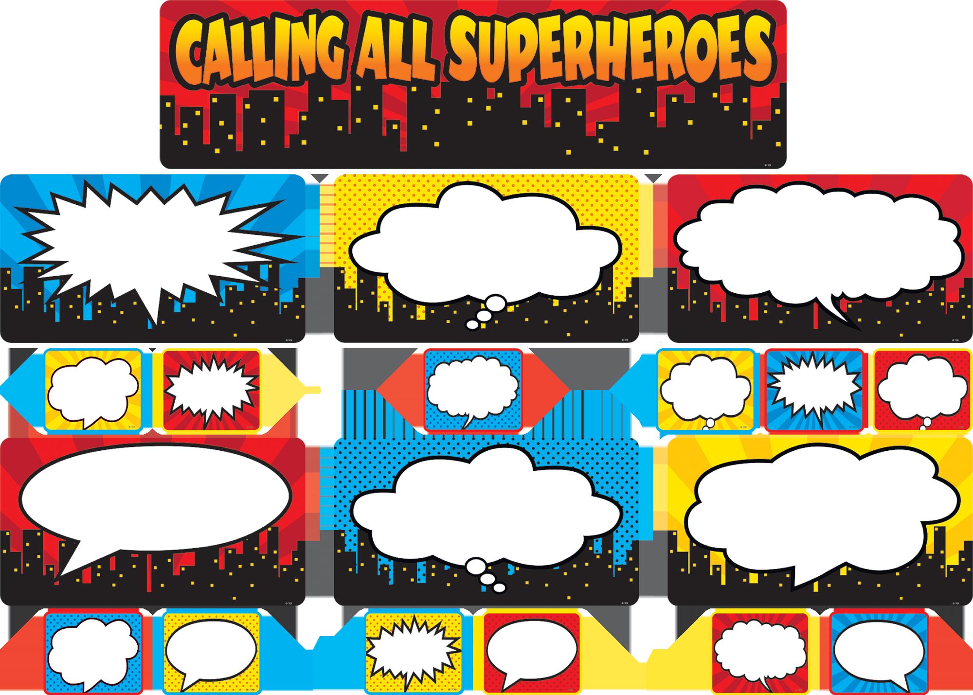 Calling All Superheroes Mini Bulletin Board TCR5825