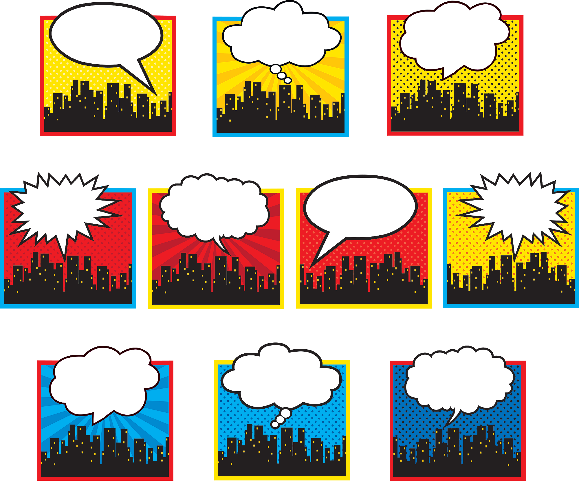 Superhero Cityscape Accents Tcr5826 Teacher Created