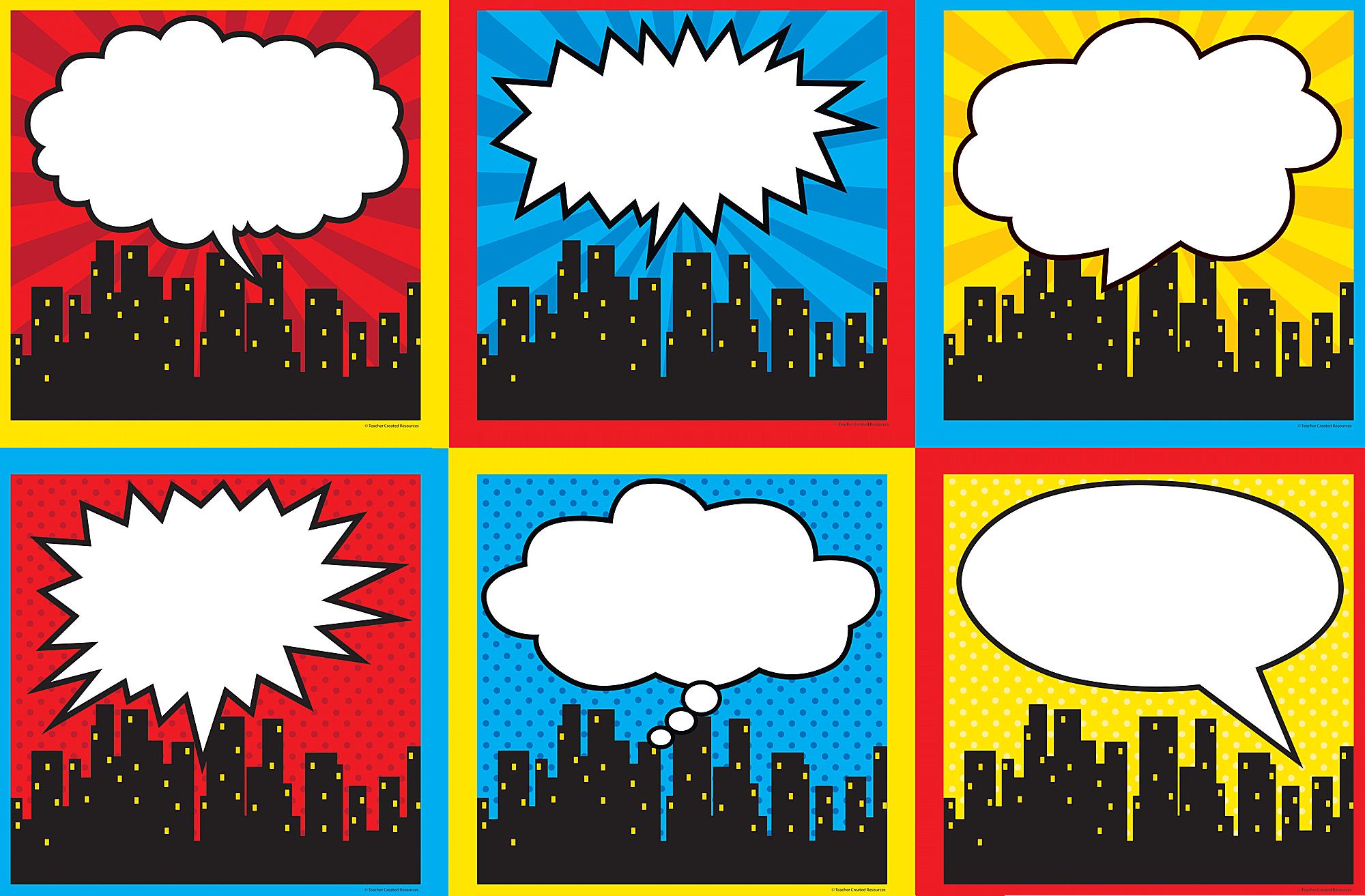 Superhero Cityscape Large Accents Tcr5832 Teacher