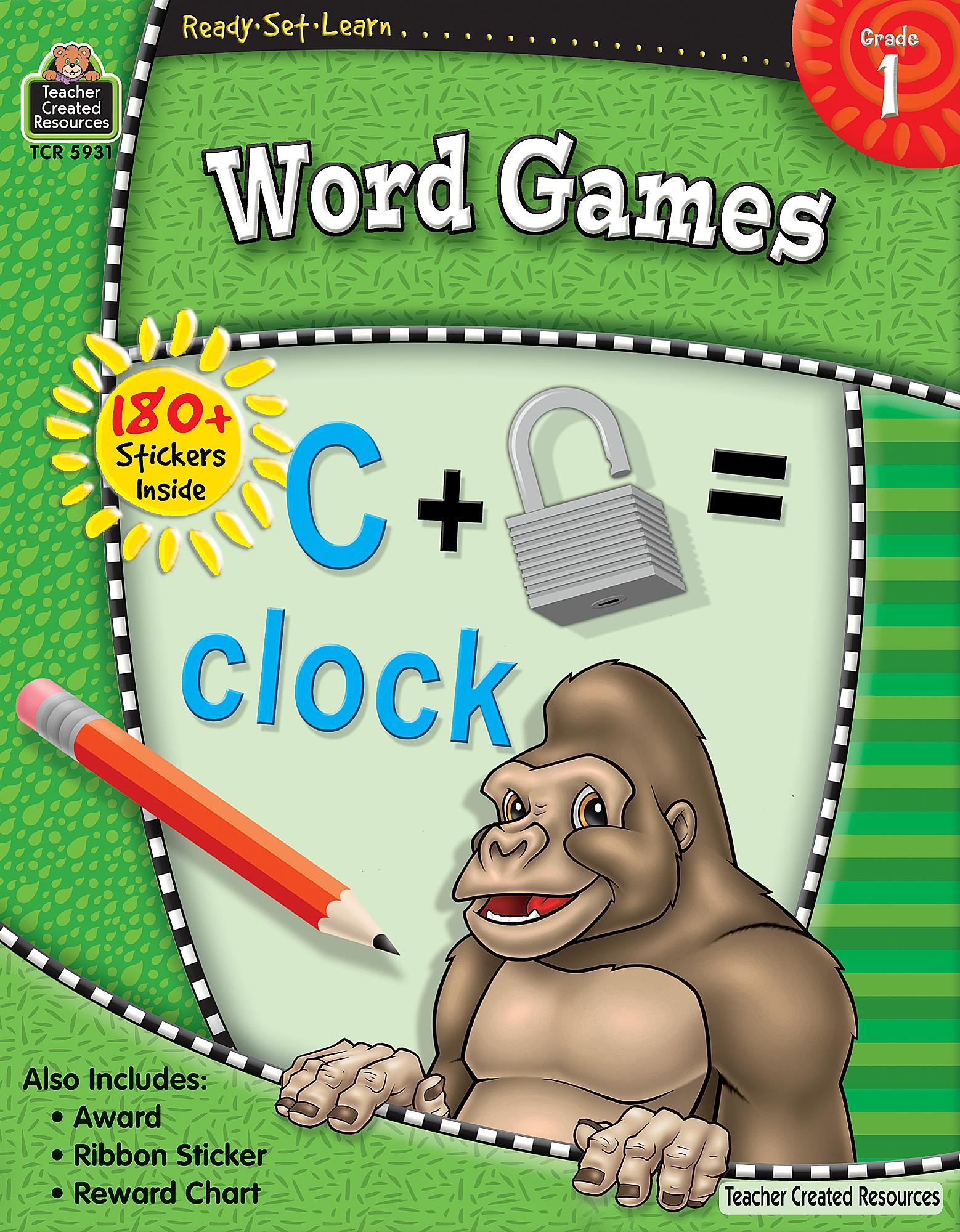 Ready-Set-Learn: Word Games Grade 1 - TCR5931 | Teacher