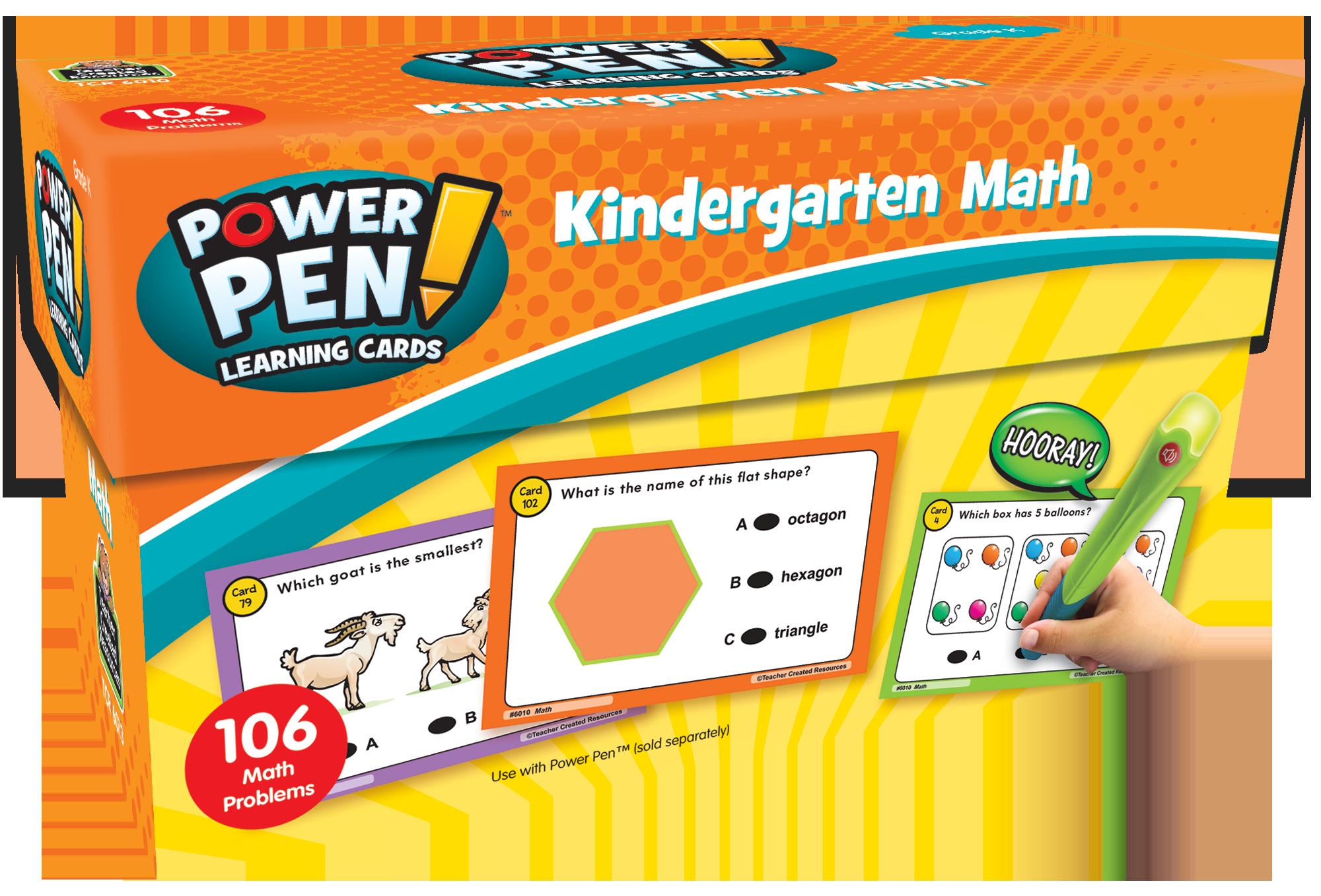 TEACHER CREATED RESOURCES POWER PEN LEARNING CARDS MATH PREK