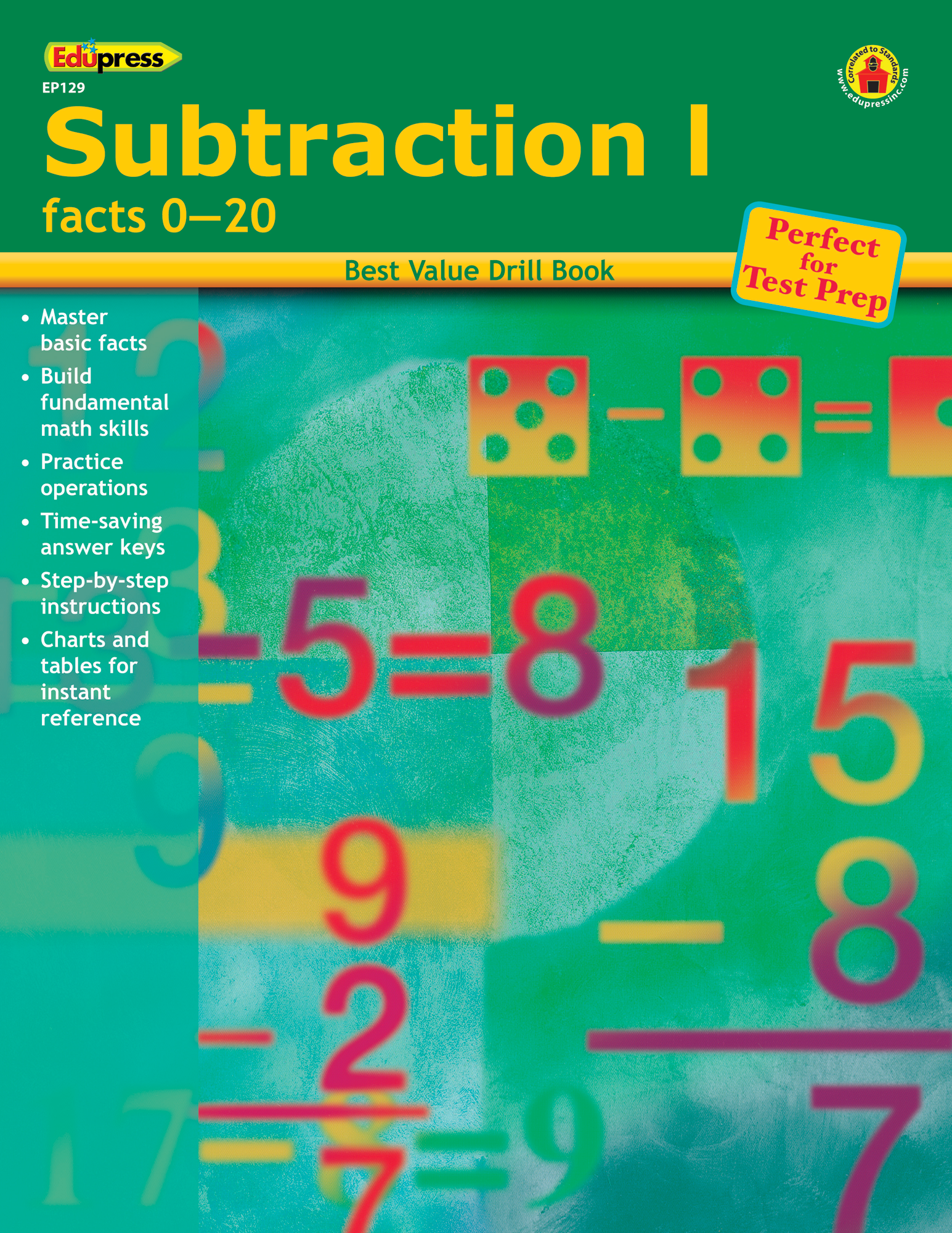Best Value Drill Book Subtraction 1 - TCR60129 | Teacher Created ...