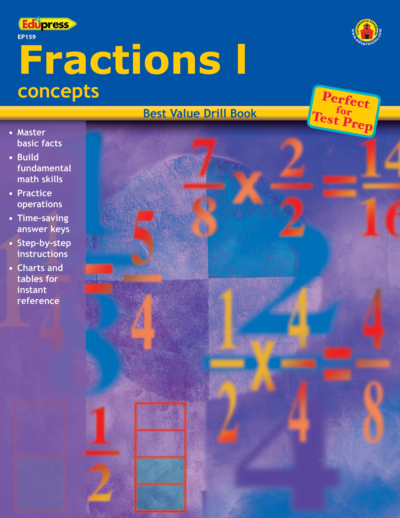Best Value Drill Book Fractions 1 Teacher Created Resources EP-159