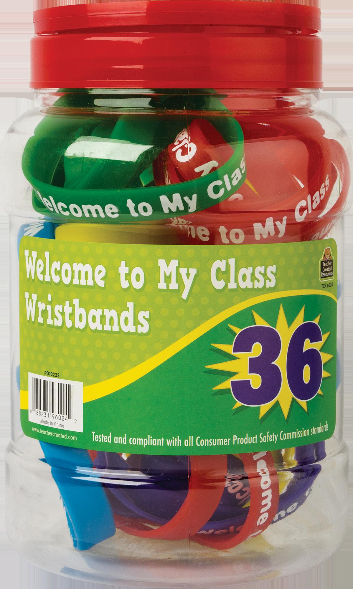 Welcome to My Class Wristbands Jar - TCR6024   Teacher ...