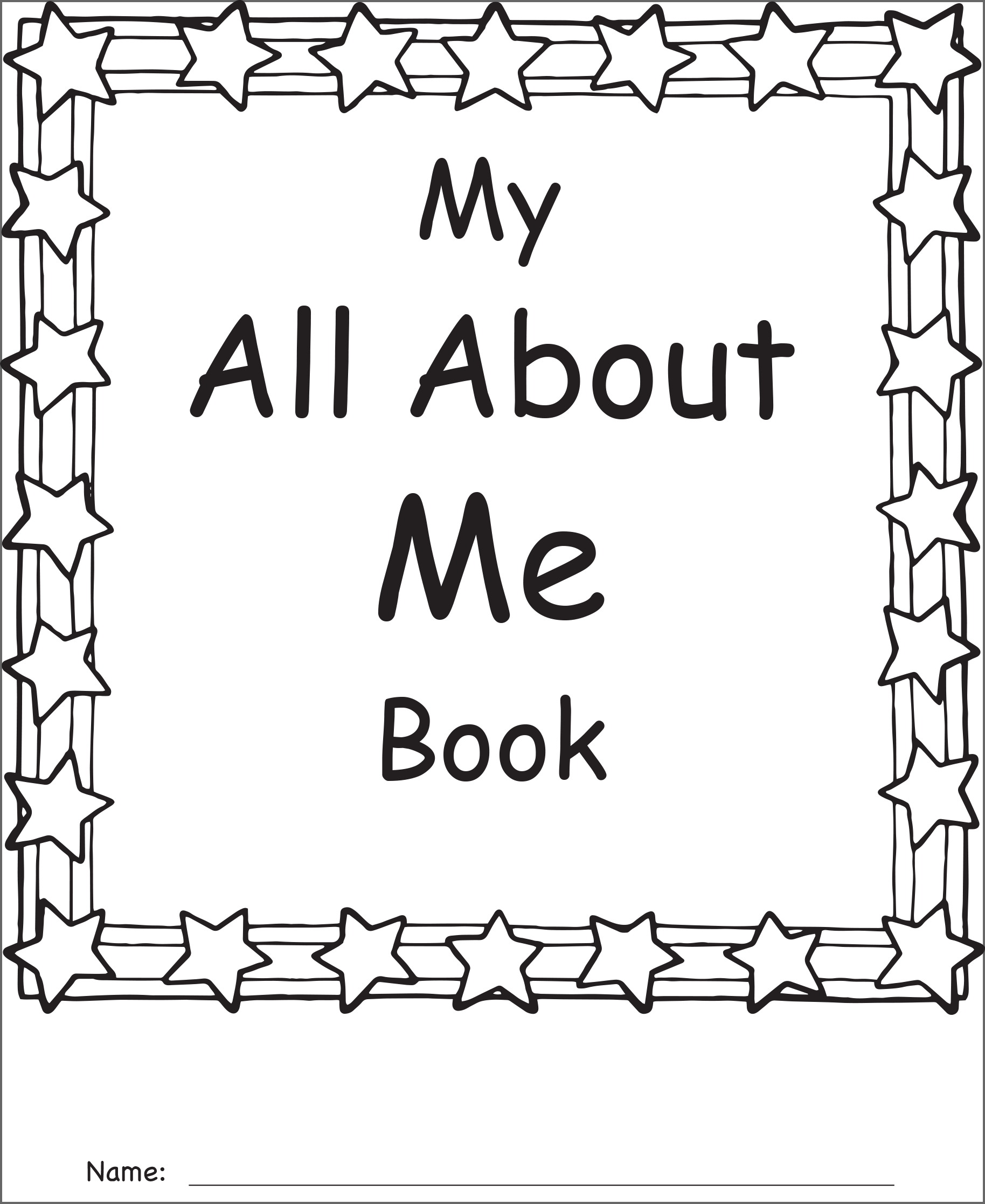 Simplicity image for all about me printable book