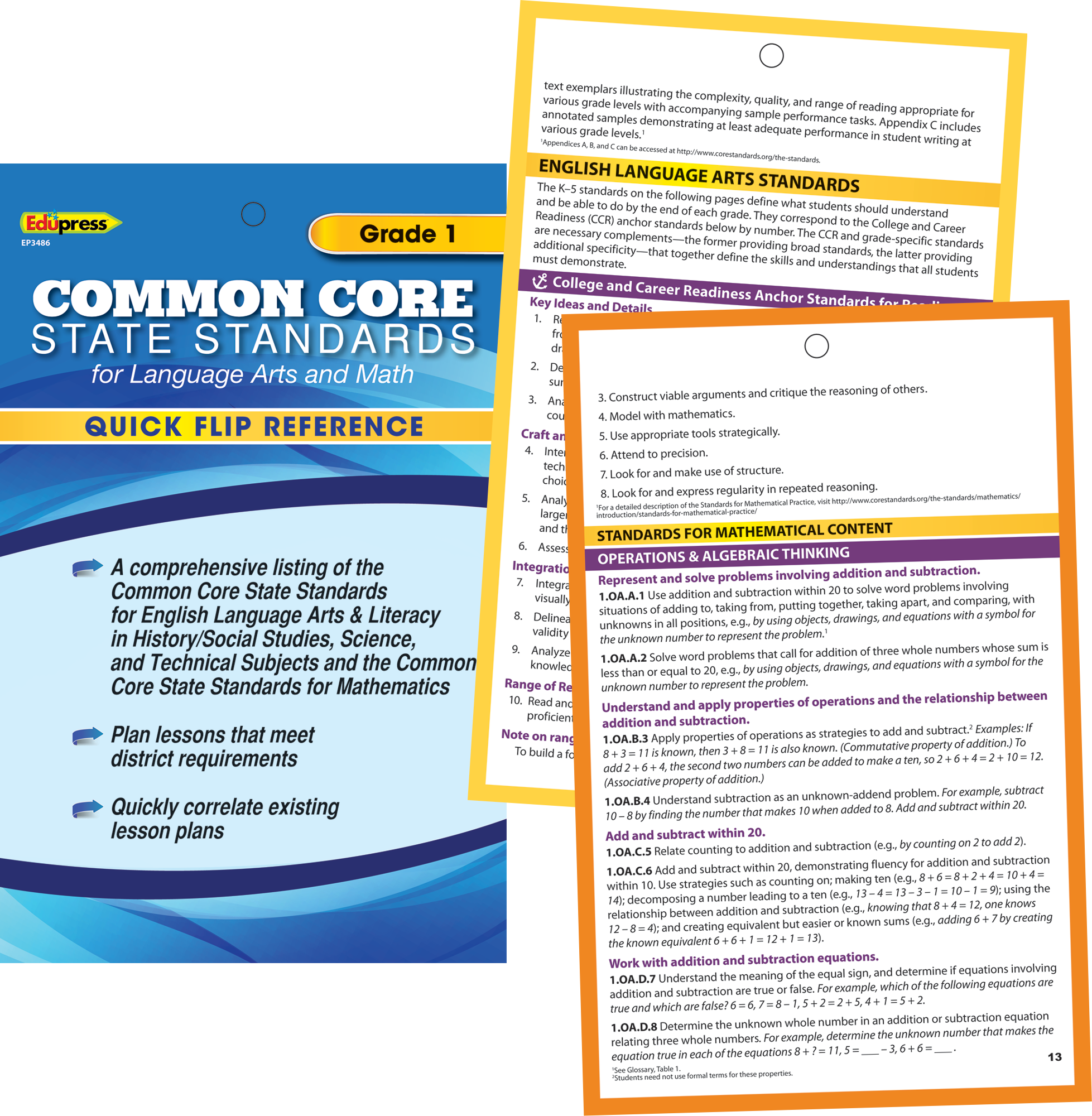 Quick flip reference for common core state standards grade 1 quick flip reference for common core state standards grade 1 tcr63486 teacher created resources biocorpaavc Gallery