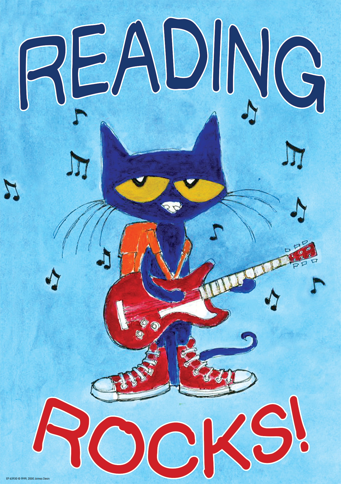 Pete the Cat Reading Rocks Positive Poster - TCR63930 ...