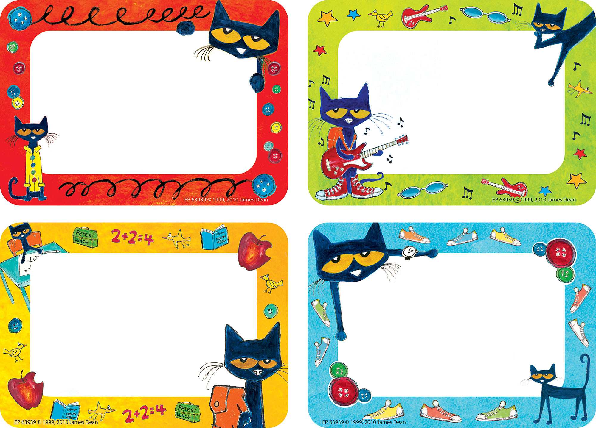 Pete The Cat Name Tags Labels Tcr63939 Teacher Created