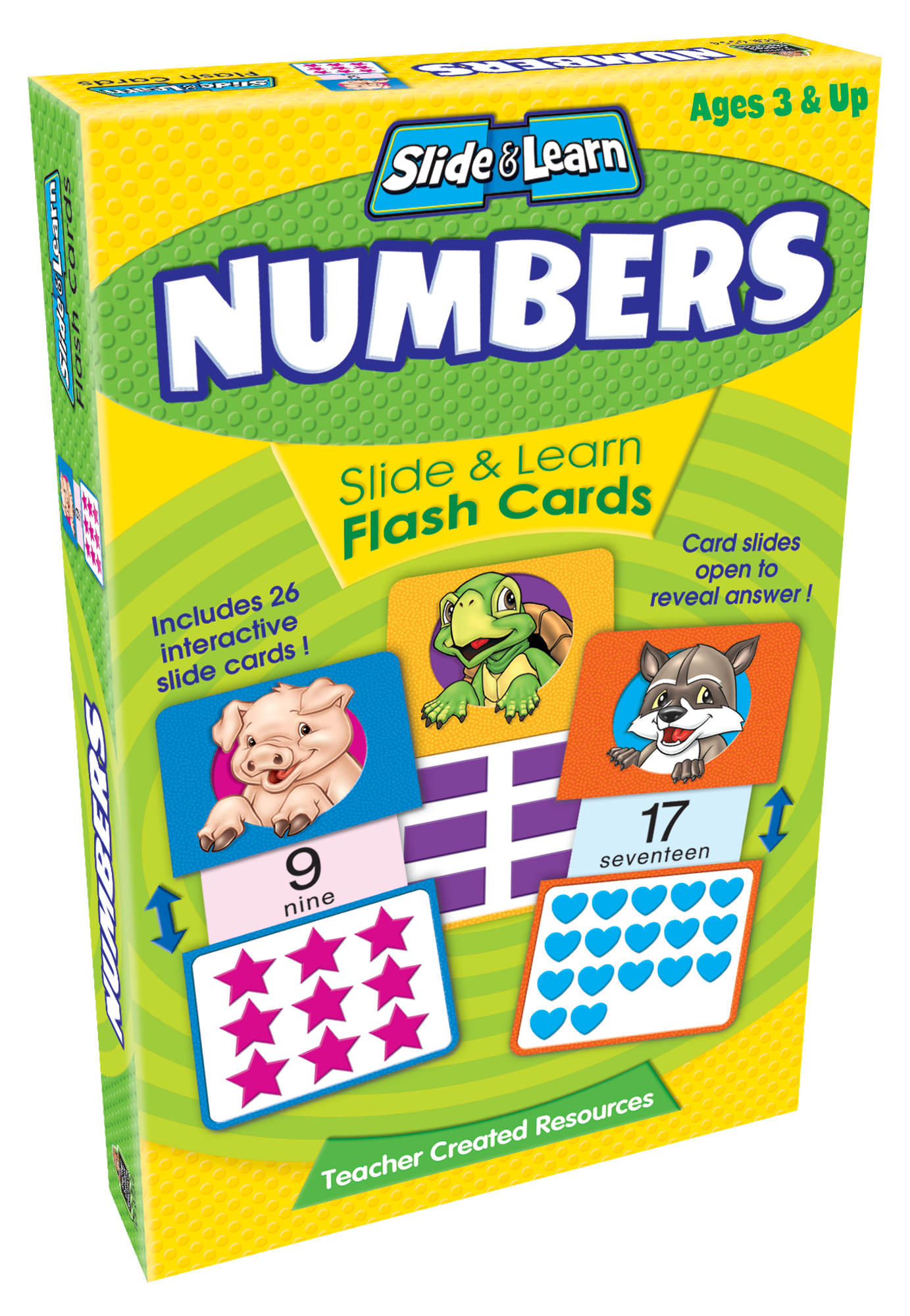 Numbers Slide & Learn Flash Cards - TCR6554