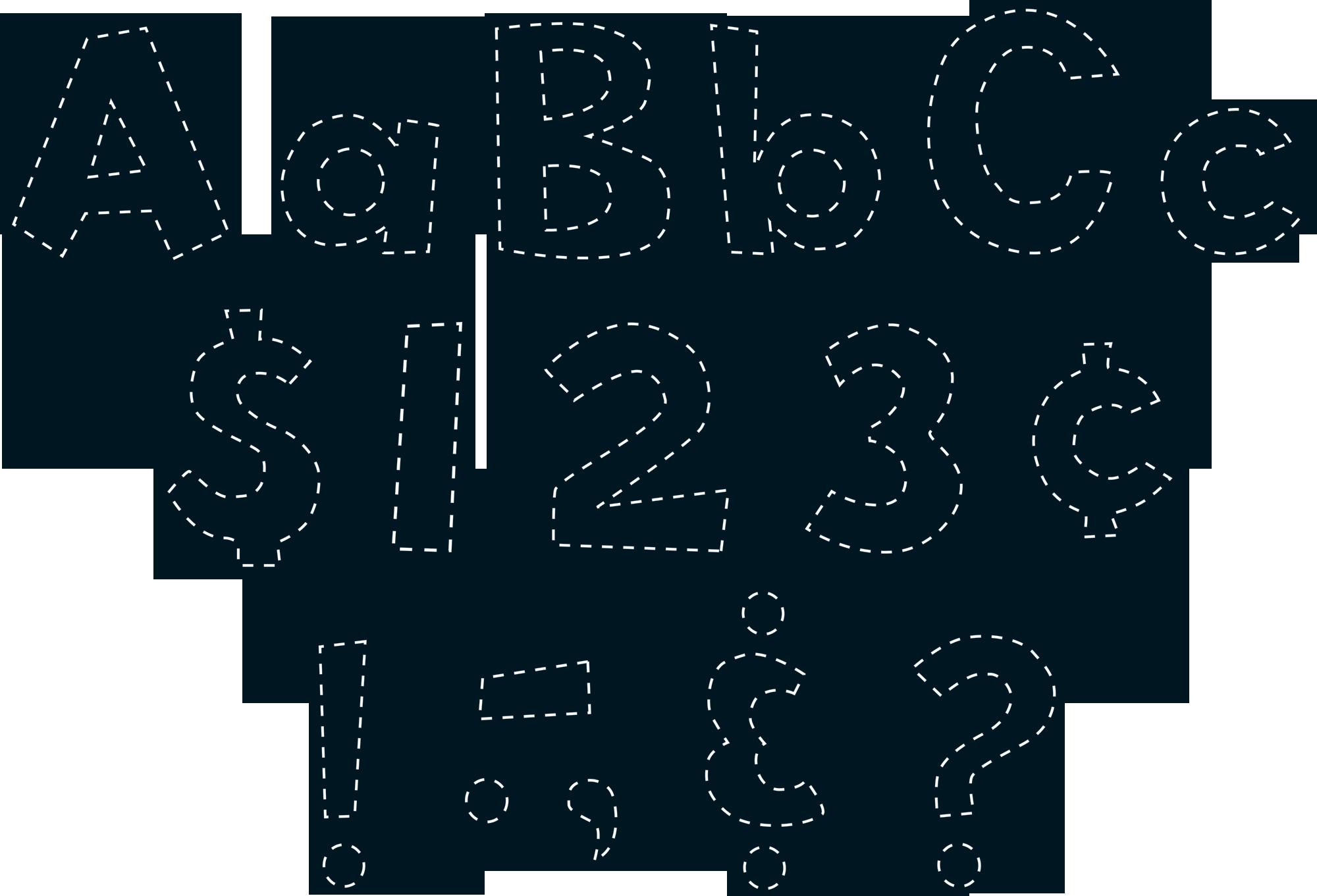 Black Stitch 4 Fun Font Letters