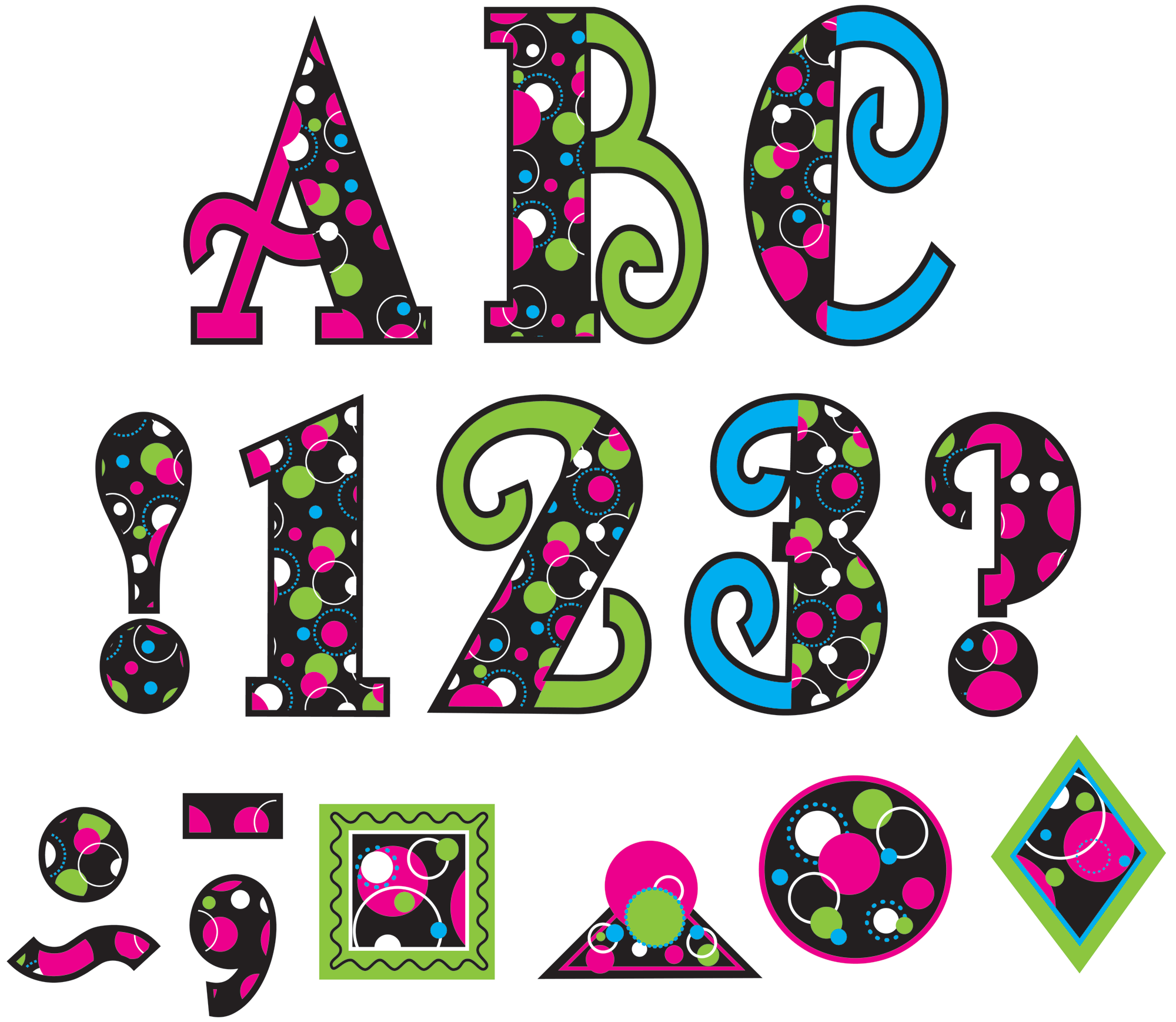 Circle Frenzy 5 Uppercase Fancy Font Letters