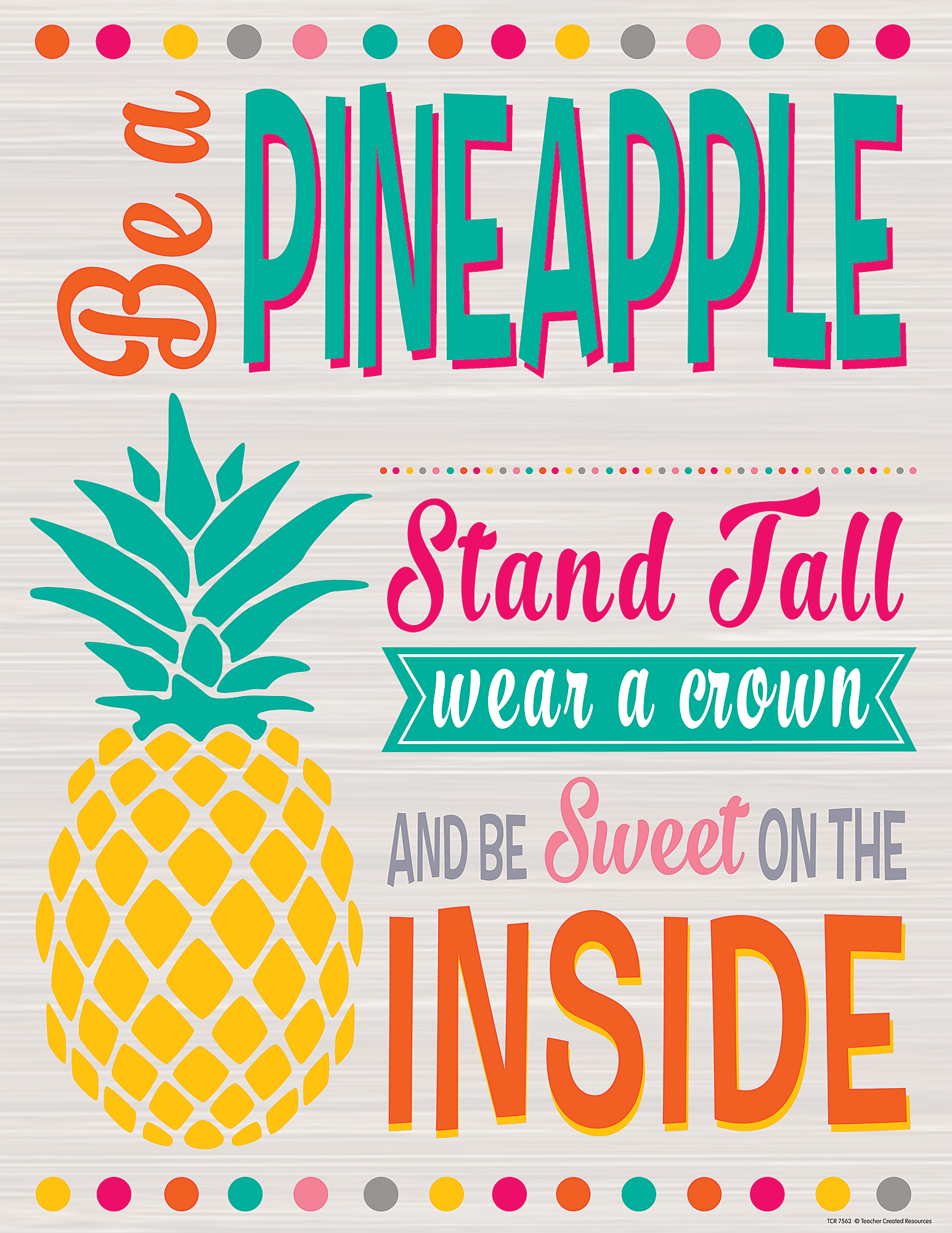 Tropical Punch Be A Pineapple Chart Tcr7563 Teacher