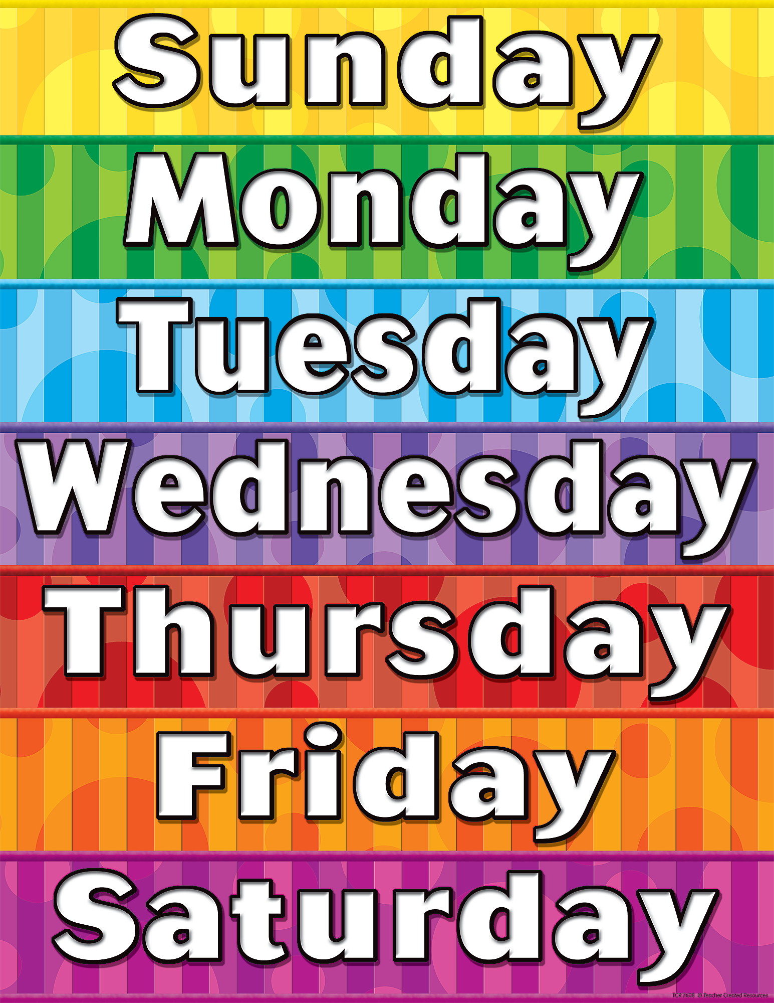 Remarkable image with regard to days of the week printable