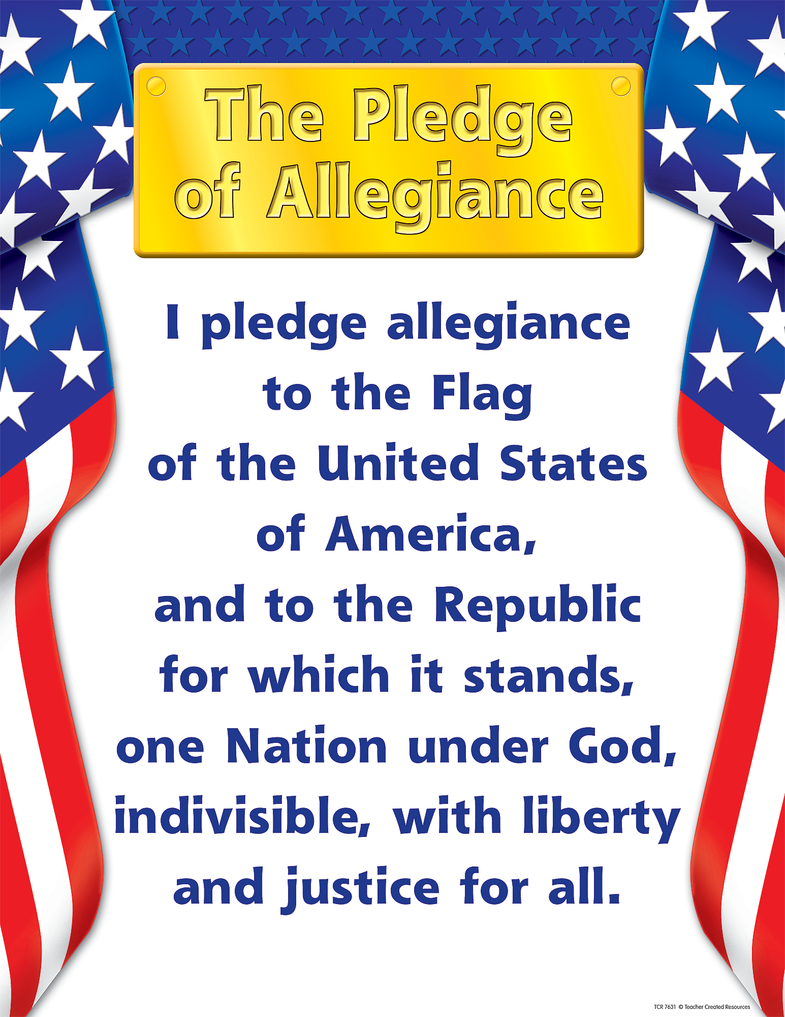 graphic relating to Pledge of Allegiance in Spanish Printable named Pledge of Allegiance Chart