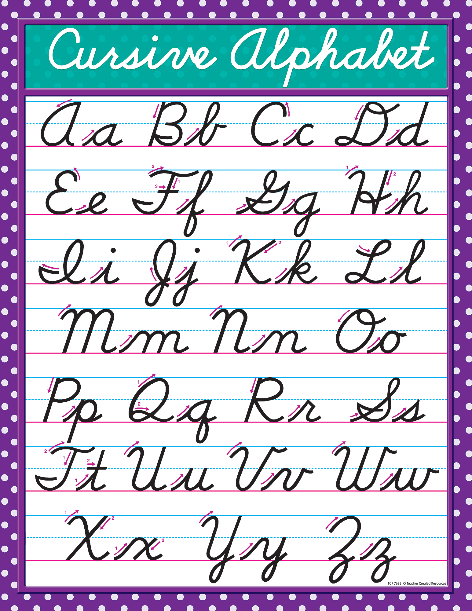 Monster image for cursive chart printable