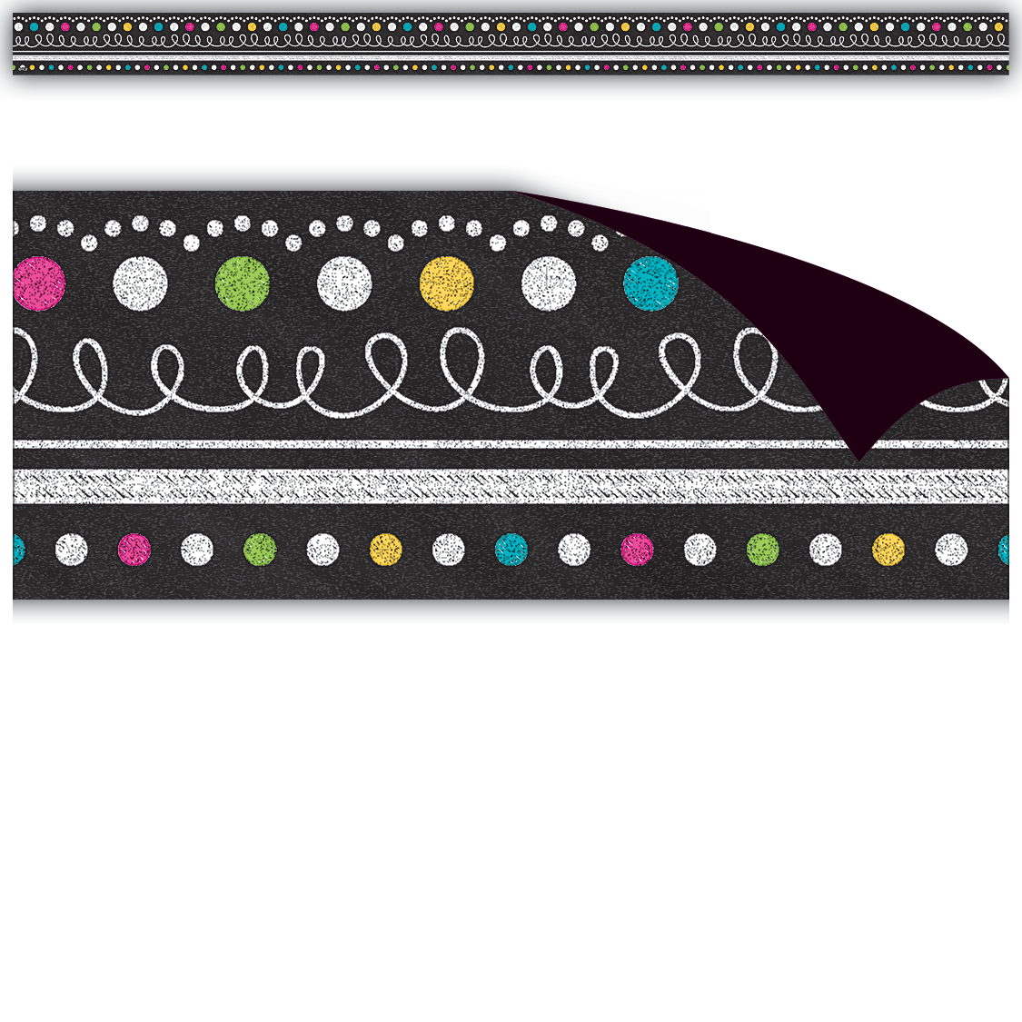Chalkboard Brights Magnetic Border Tcr77132 Teacher