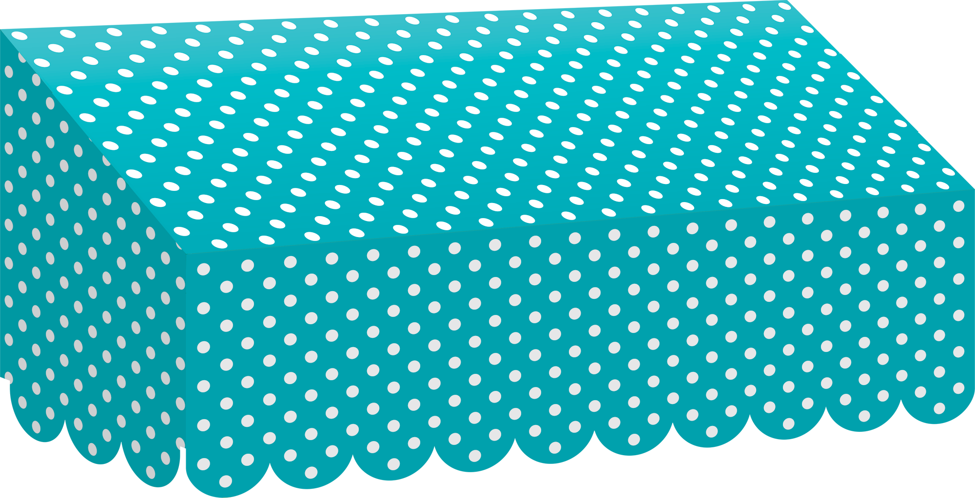 Teal Polka Dots Awning Tcr77163 Teacher Created Resources