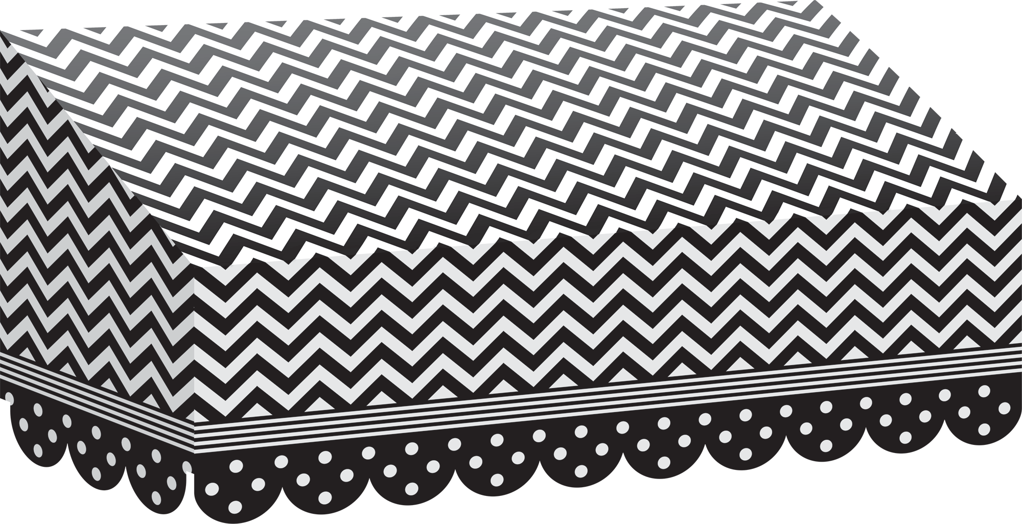 Black Amp White Chevrons And Dots Awning Tcr77164