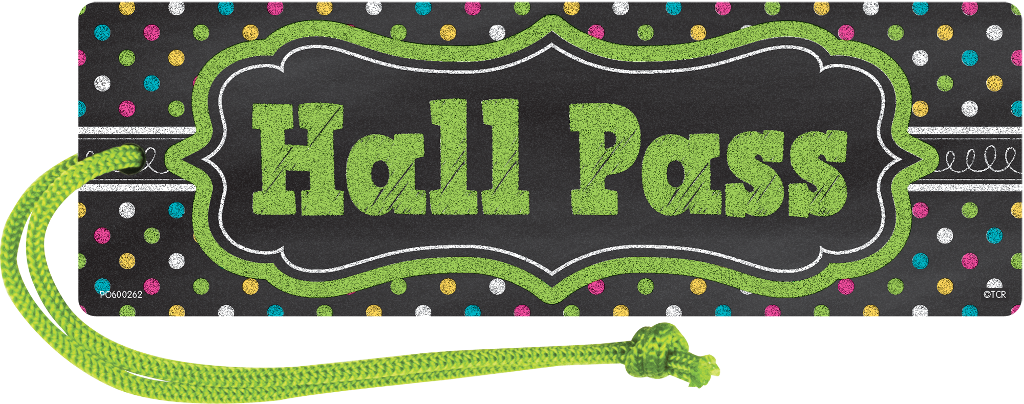 Chalkboard Brights Magnetic Hall Pass - TCR77276 | Teacher ...